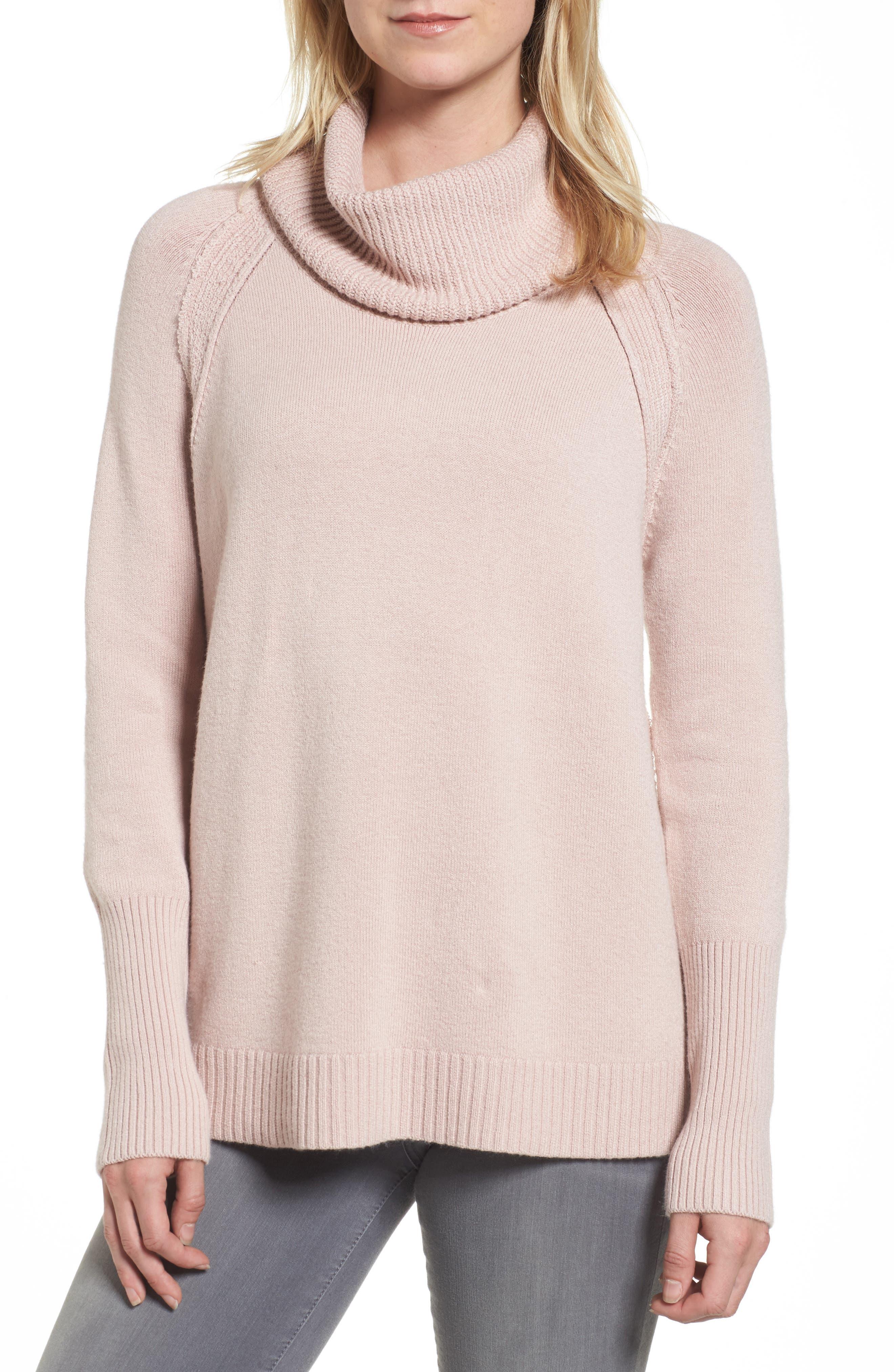 Caslon® Cowl Neck Sweater (Regular & Petite)