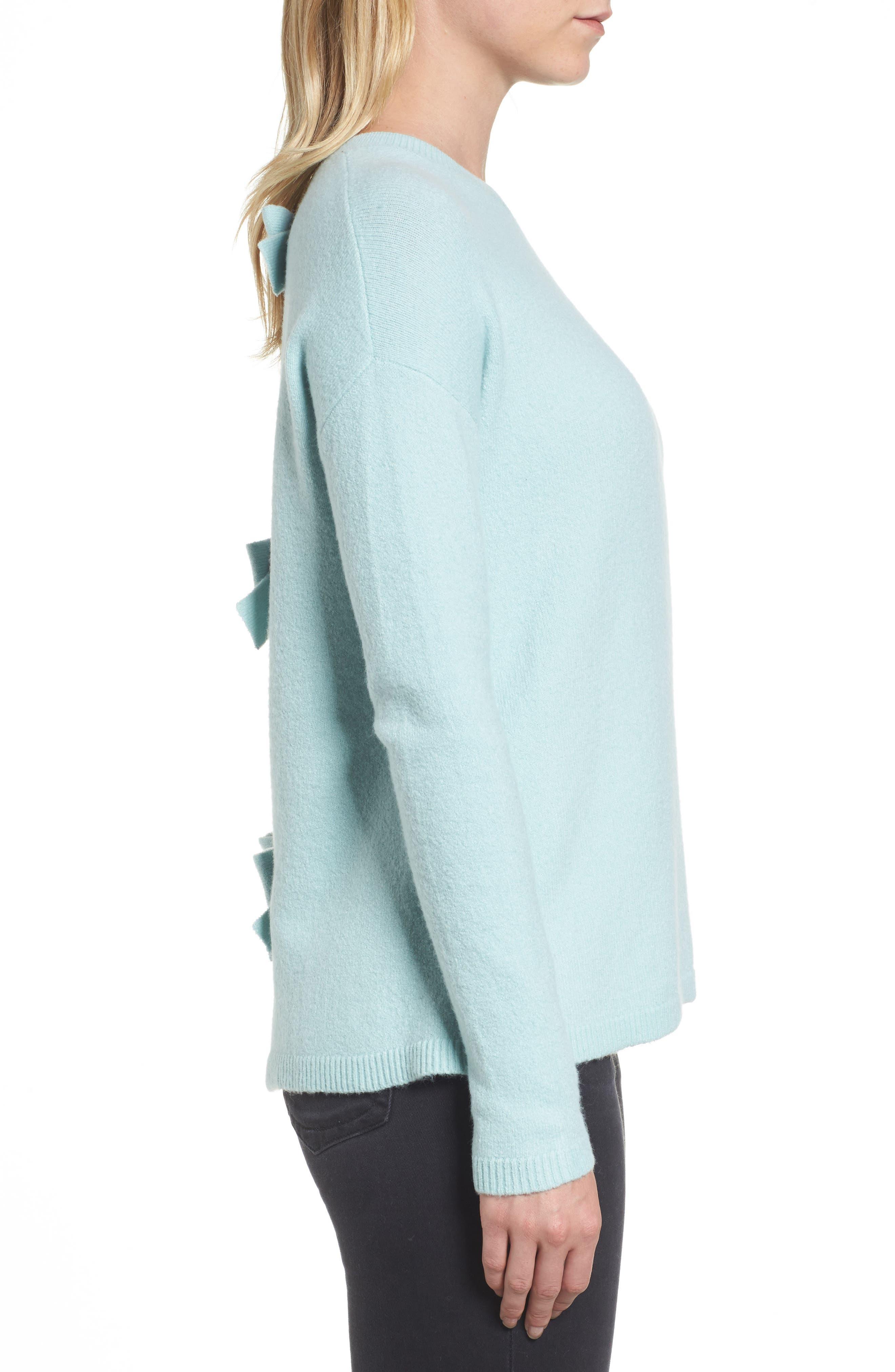 Alternate Image 3  - Halogen® Bow Back Sweater (Regular & Petite)