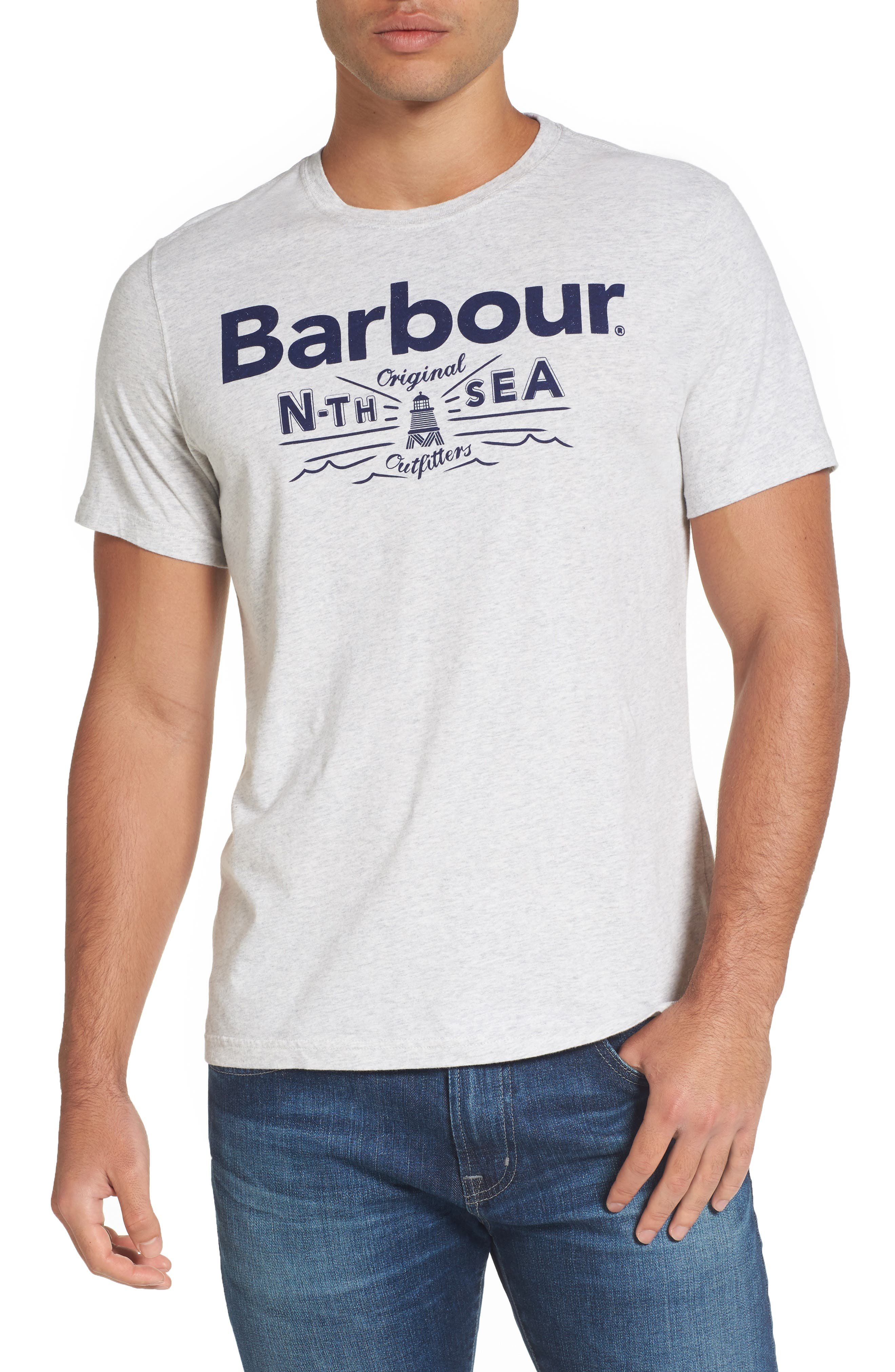 Main Image - Barbour Cove Slim Fit Logo Graphic T-Shirt