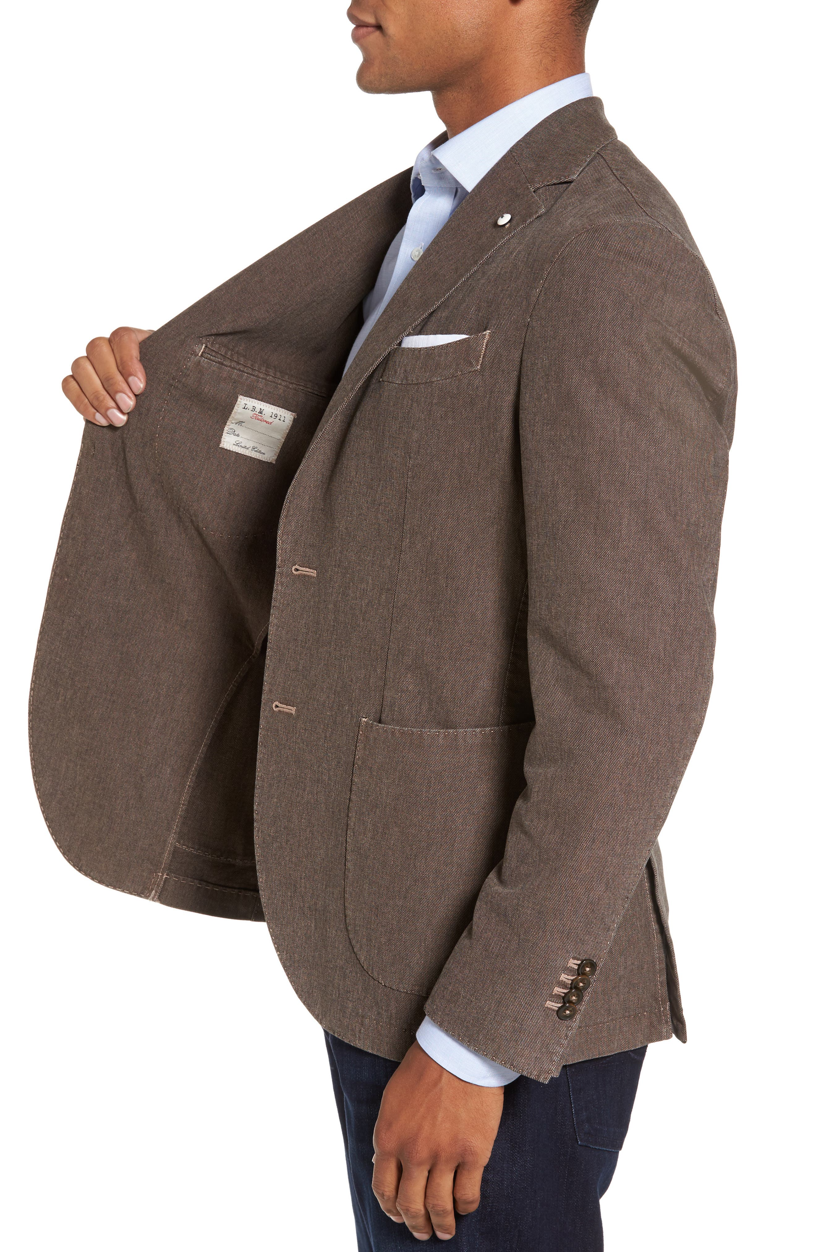 Alternate Image 3  - L.B.M. 1911 Classic Fit Cotton Blend Blazer