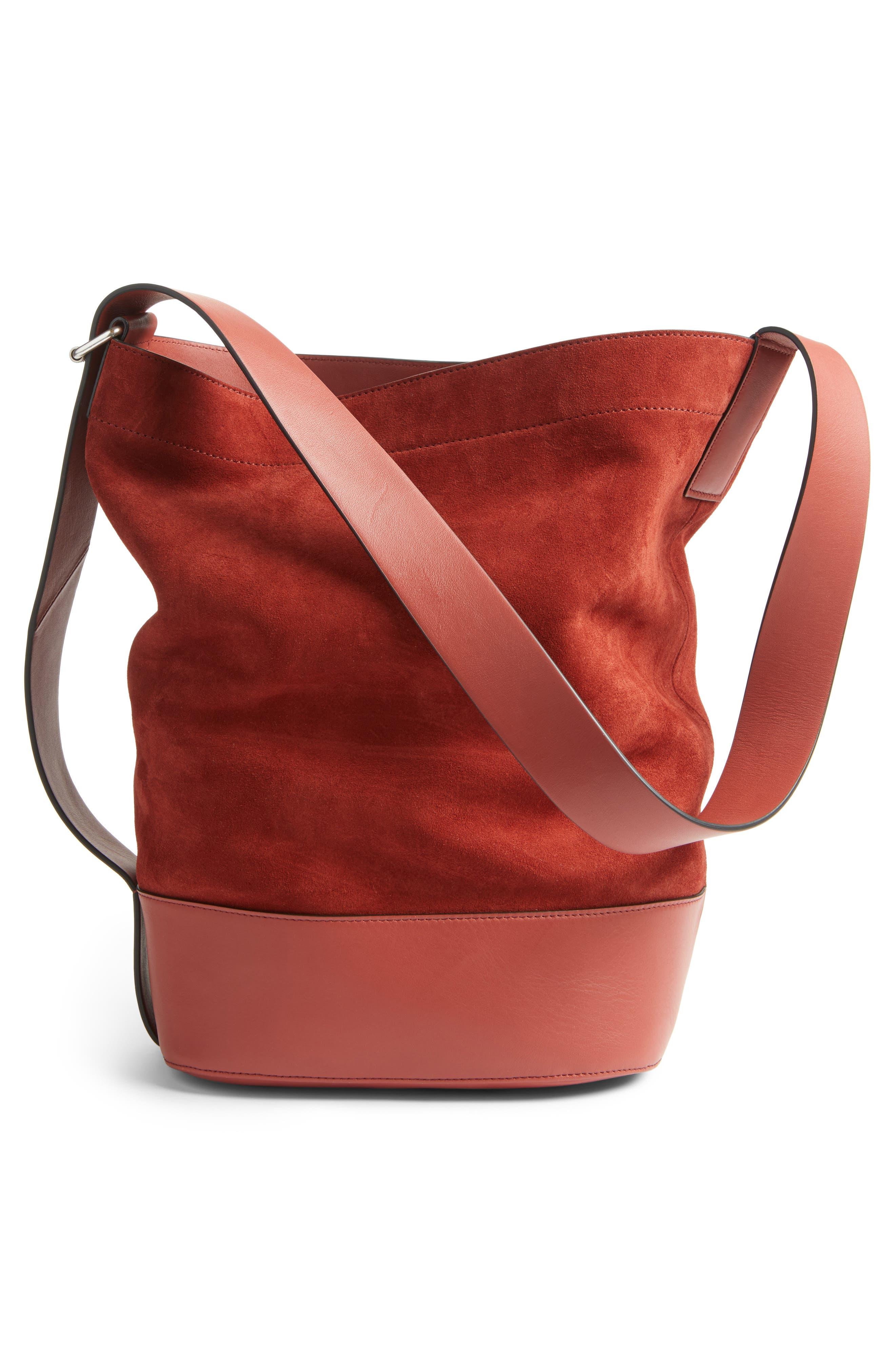 Alternate Image 4  - rag and bone Walker Sling Leather & Suede Bucket Bag