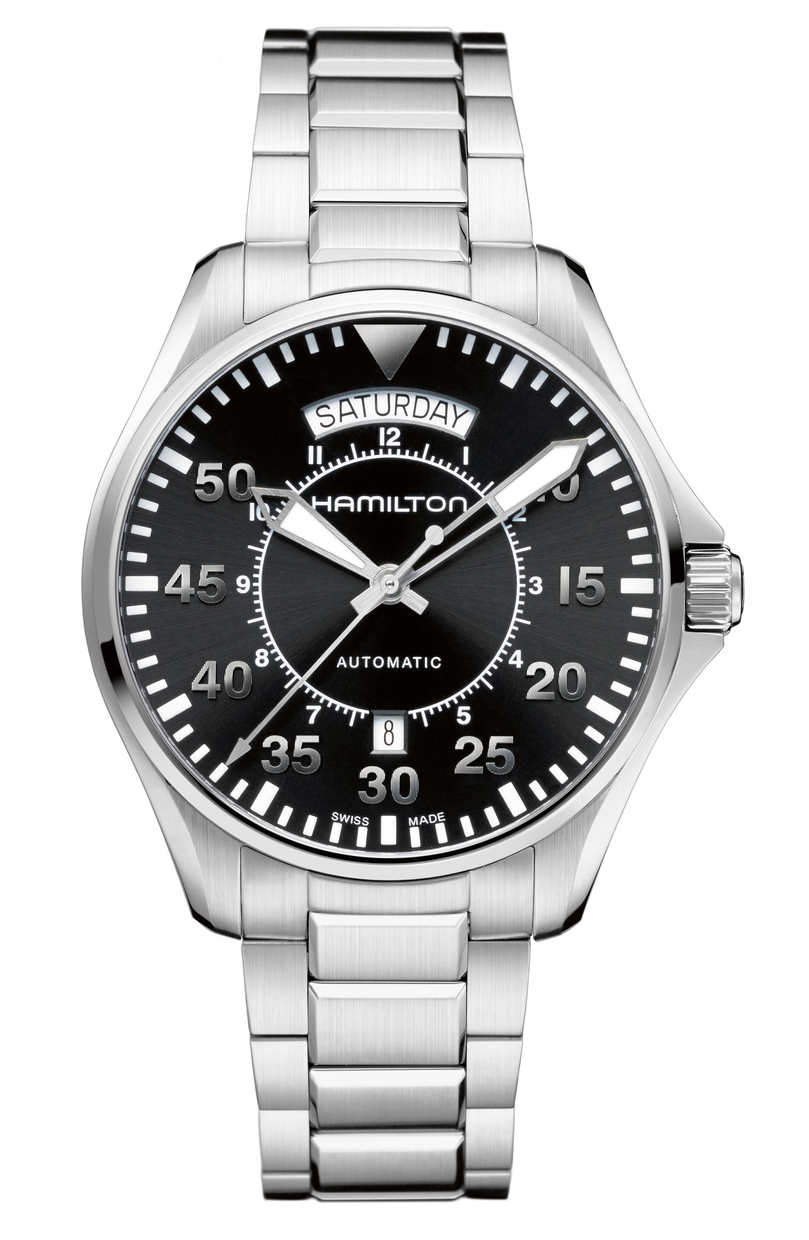 Main Image - Hamilton Khaki Aviation Automatic Bracelet Watch, 42mm