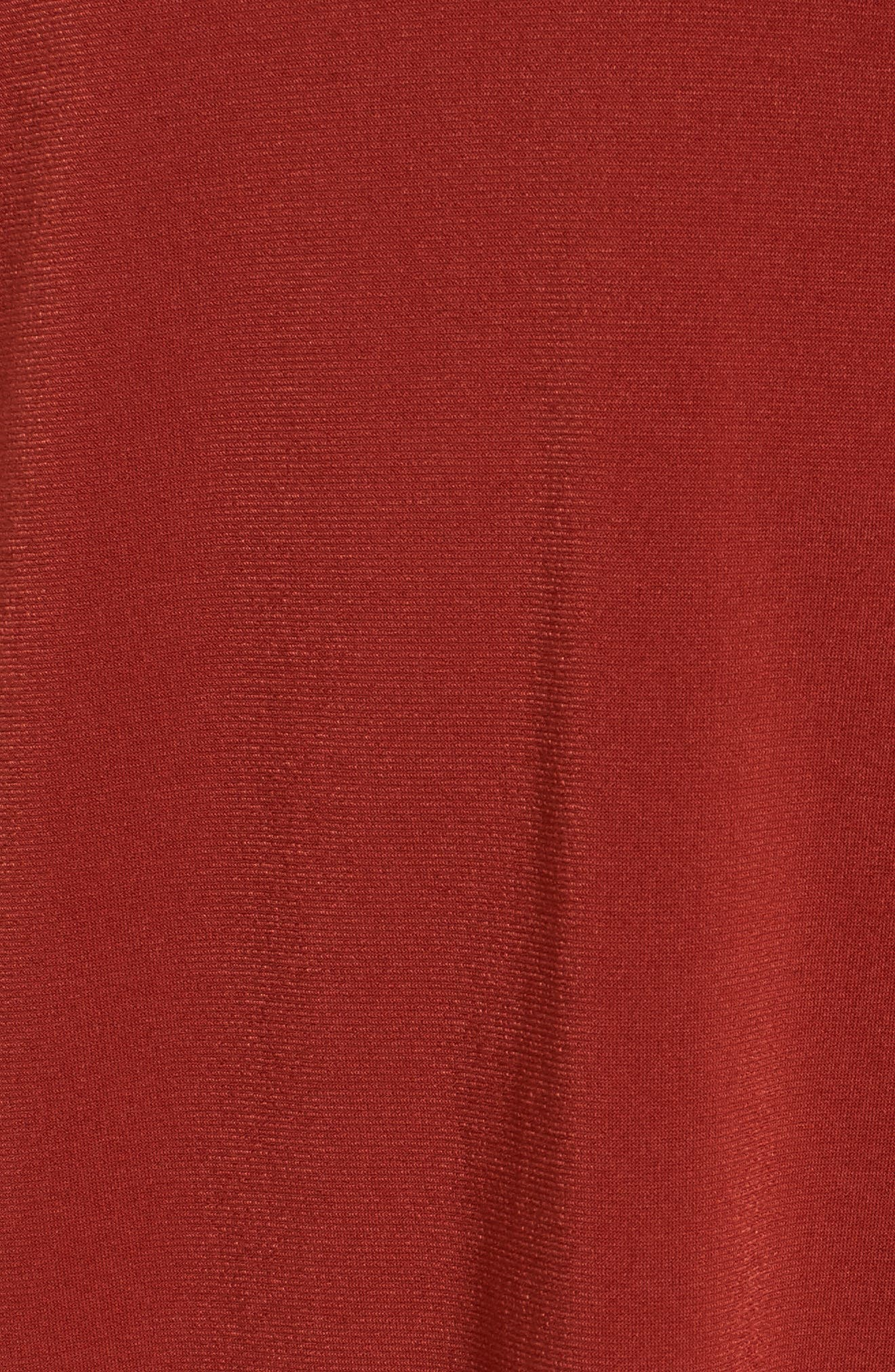 V-Neck A-Line Dress,                             Alternate thumbnail 5, color,                             Red Clay