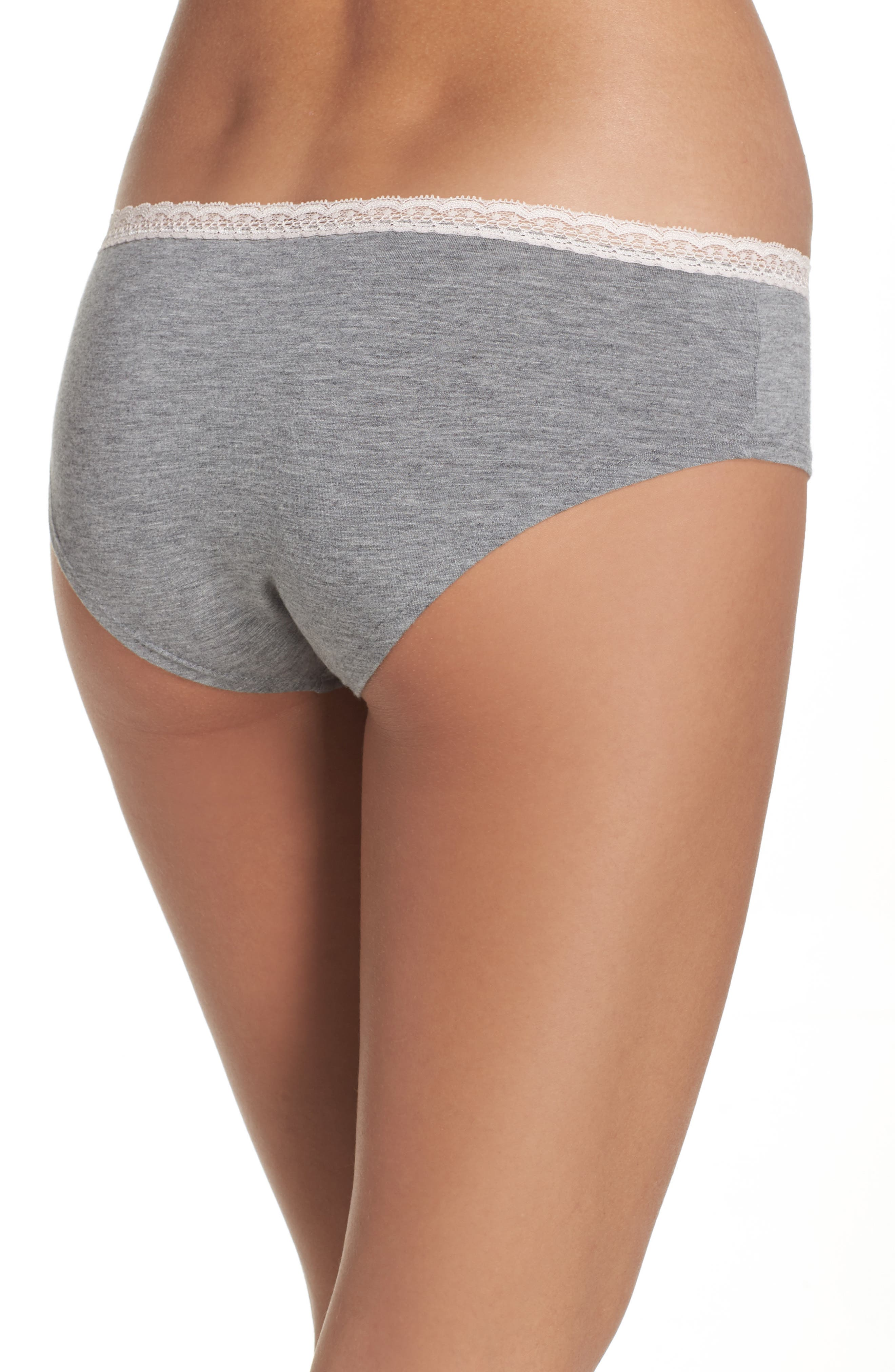 Dreamy Hipster Briefs,                             Alternate thumbnail 2, color,                             Grey Heather