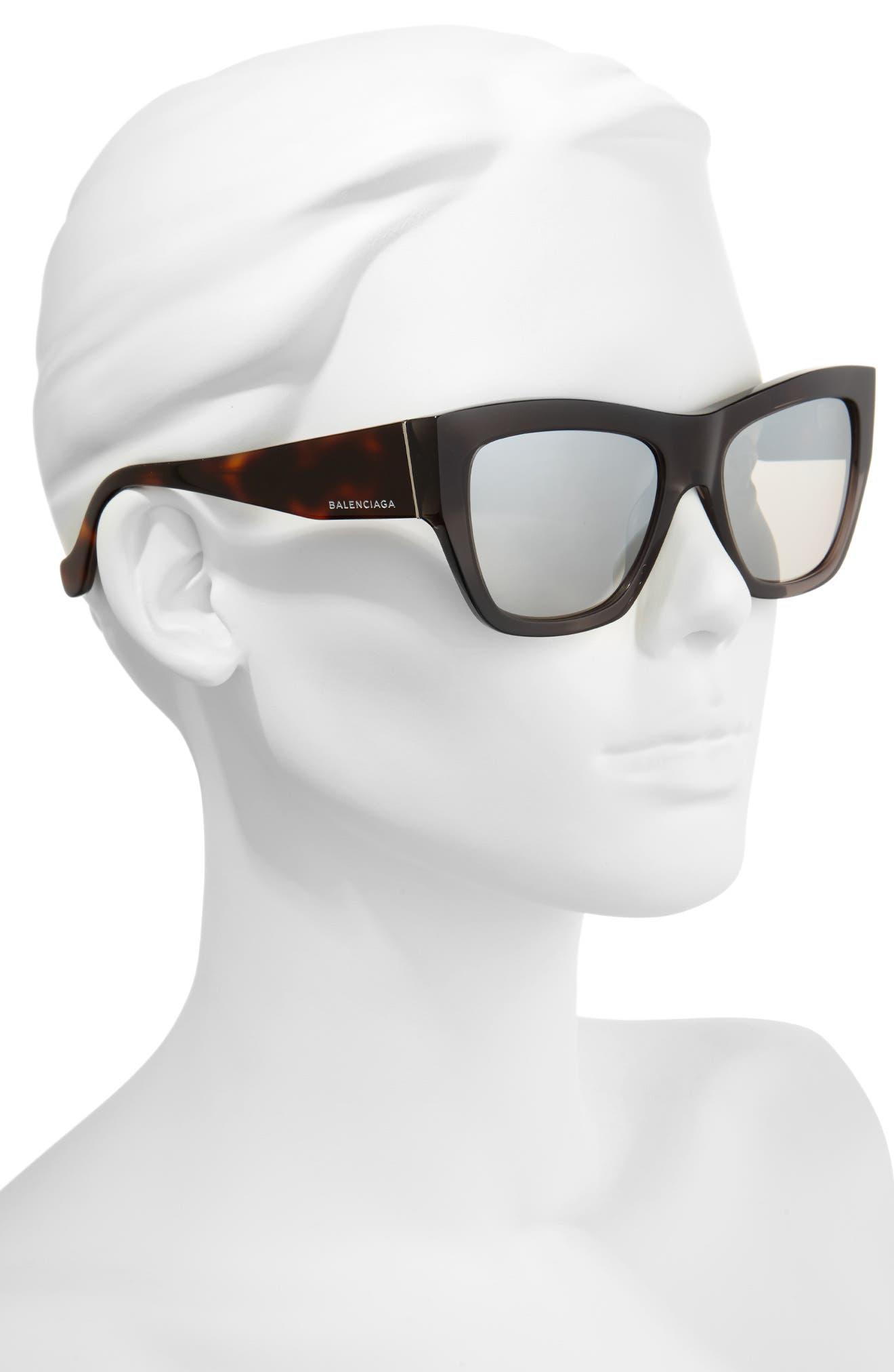 Alternate Image 2  - Balenciaga 56mm Cat Eye Sunglasses