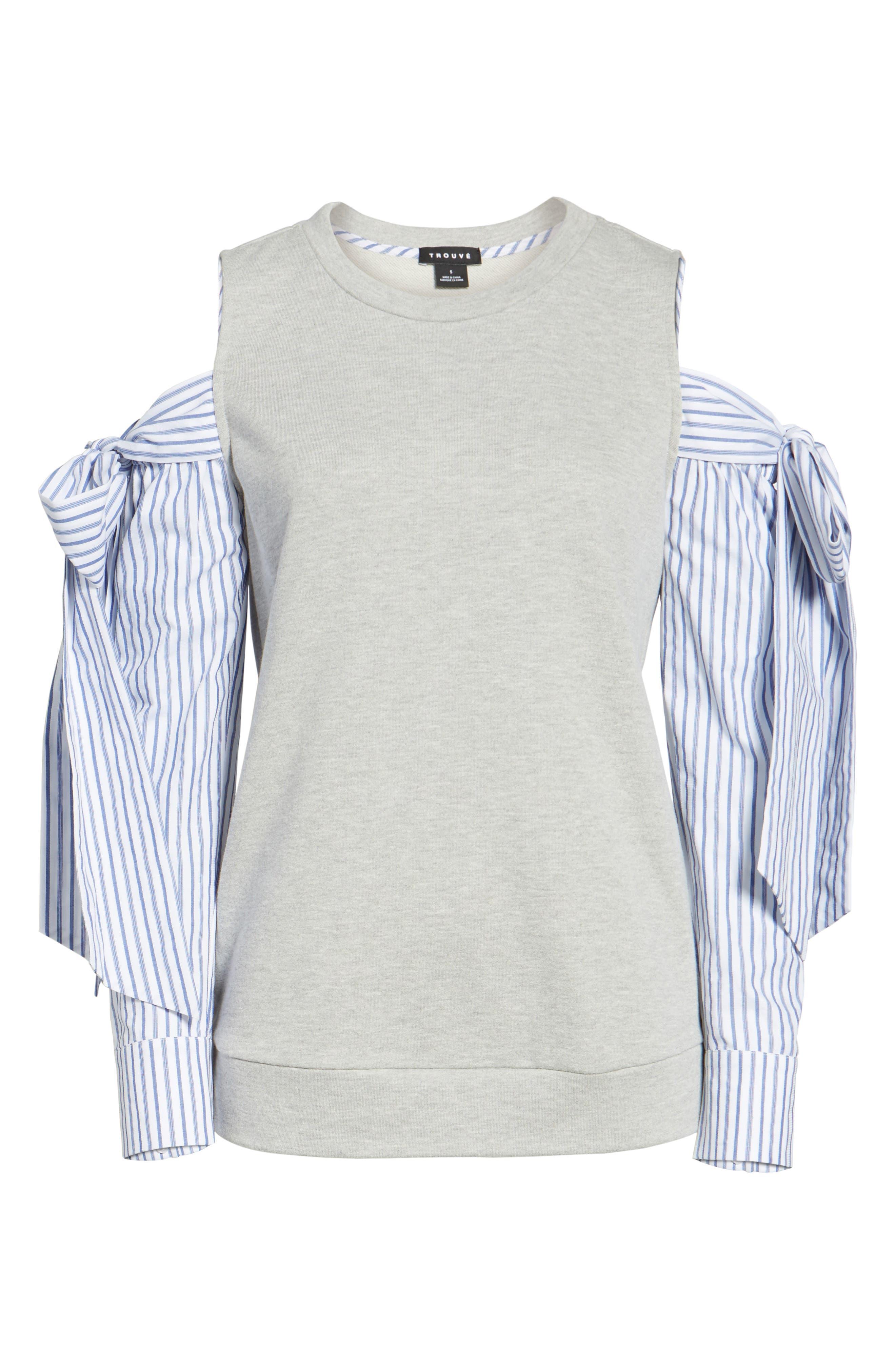 Alternate Image 4  - Trouvé Cold Shoulder Sweatshirt