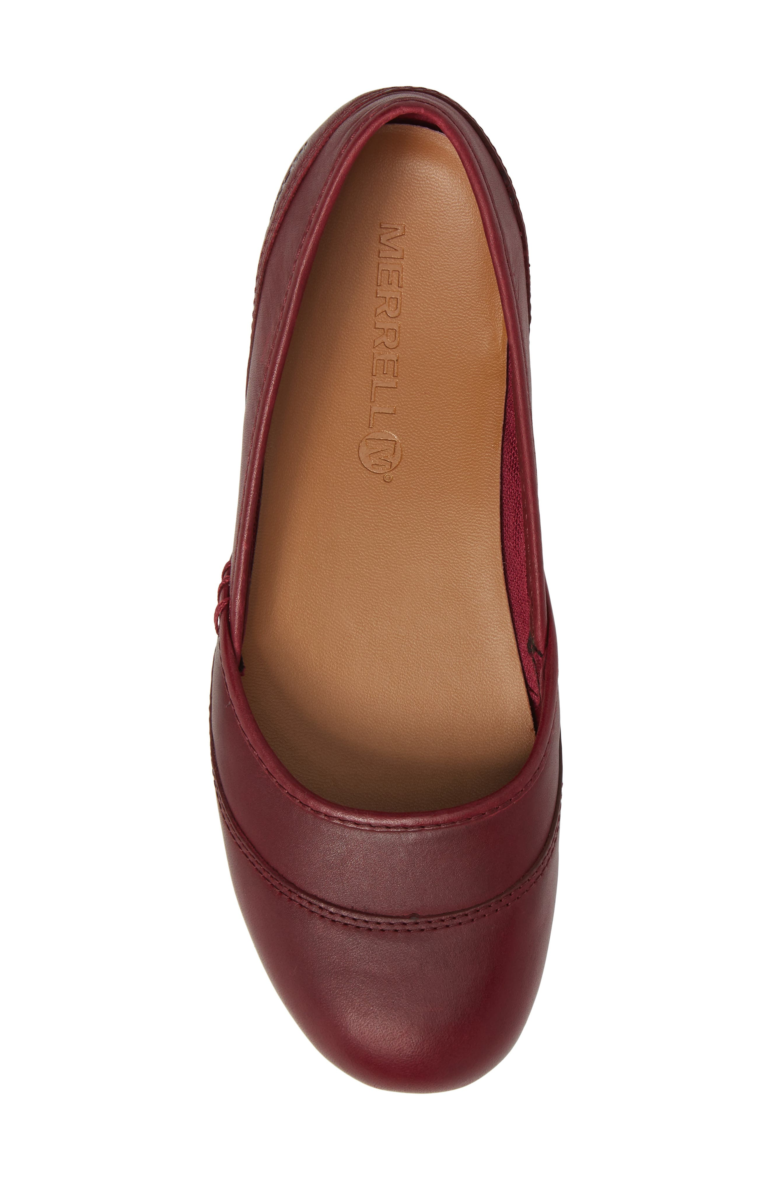Ember Ballet Flat,                             Alternate thumbnail 5, color,                             Beet Red Leather