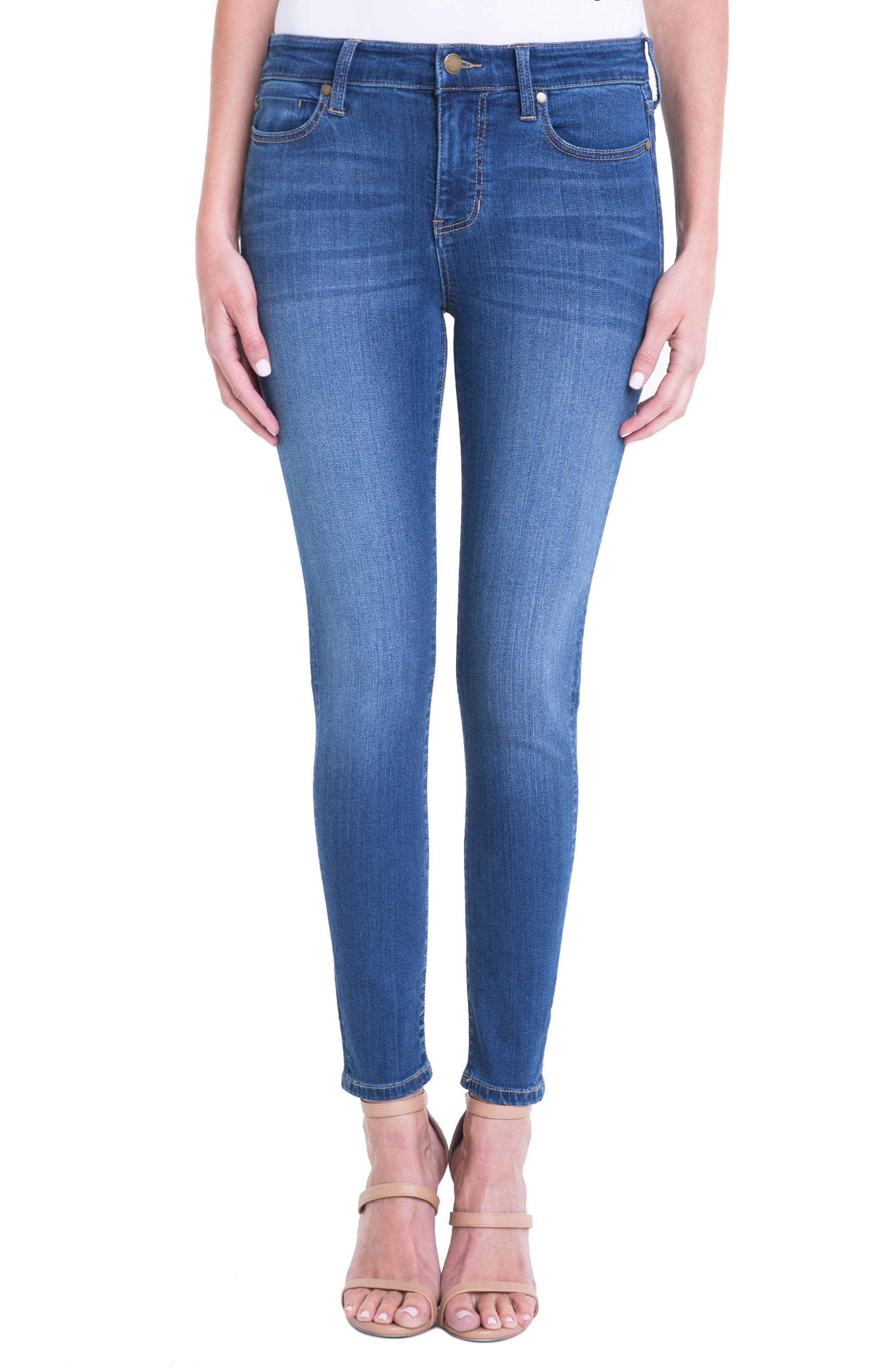 Main Image - Liverpool Jeans Company High Rise Stretch Ankle Skinny Jeans (Albury Wash)