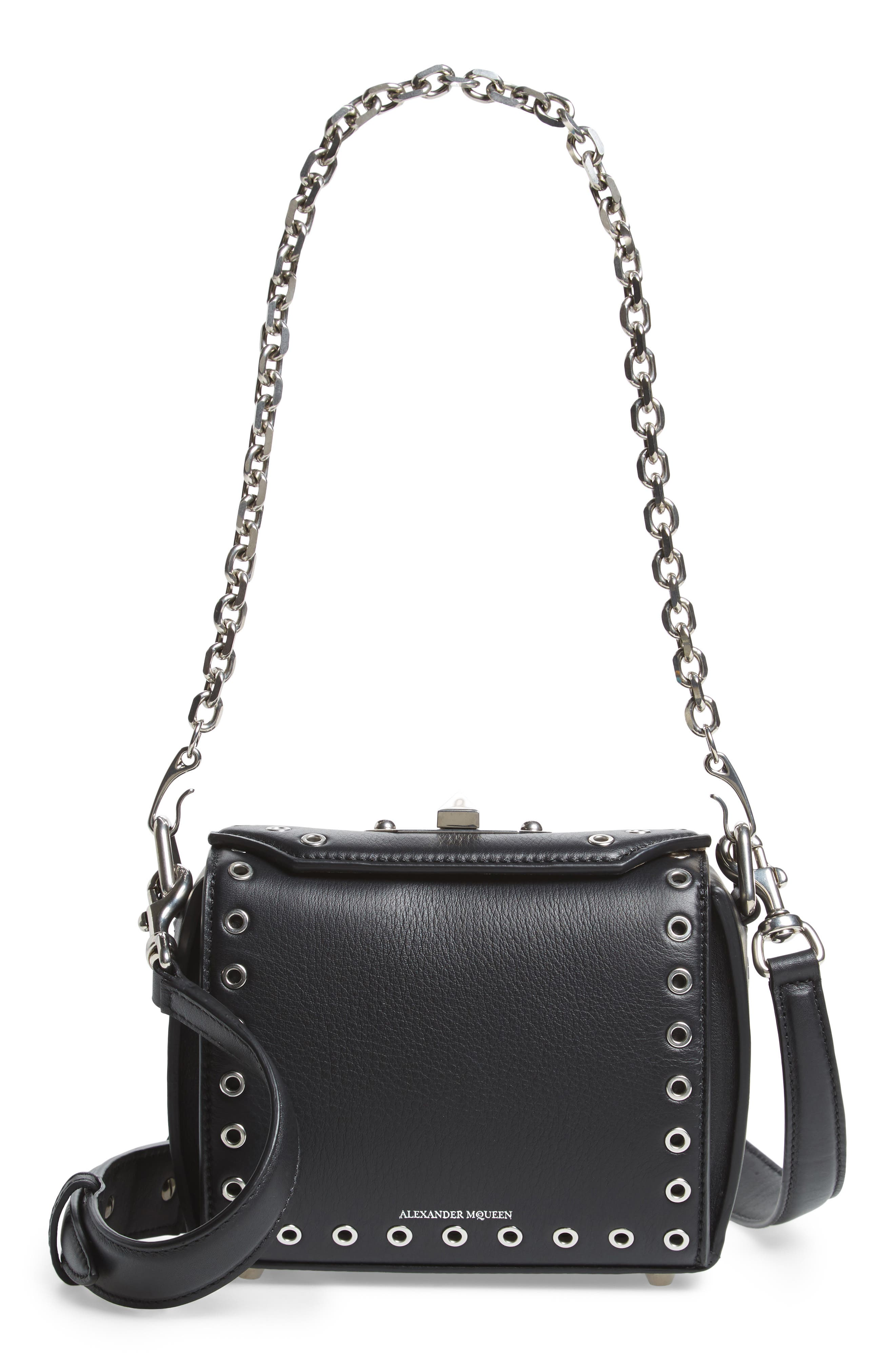 Alexander McQueen Mini Box Grommet Leather Bag
