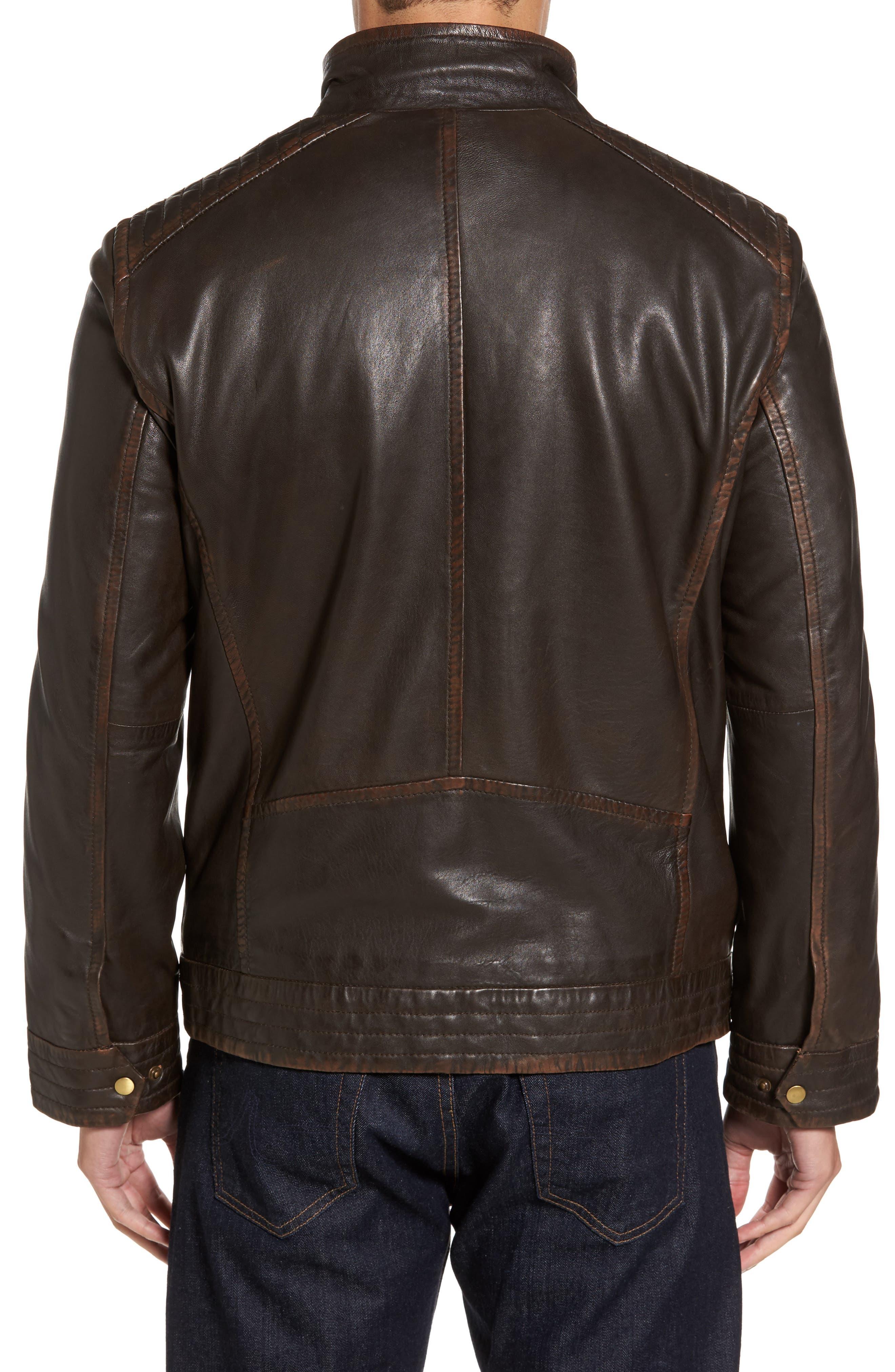 Alternate Image 2  - Missani Le Collezioni Leather Jacket