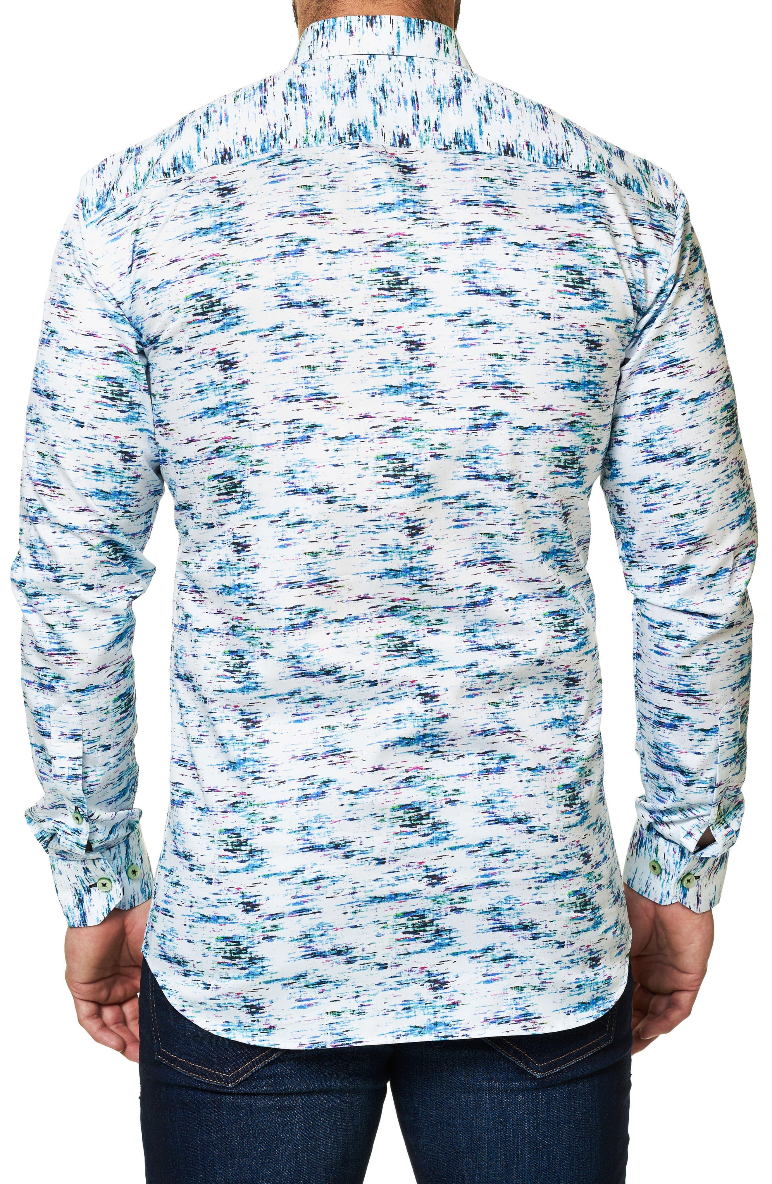 Alternate Image 2  - Maceoo Luxor Slim Fit Print Sport Shirt