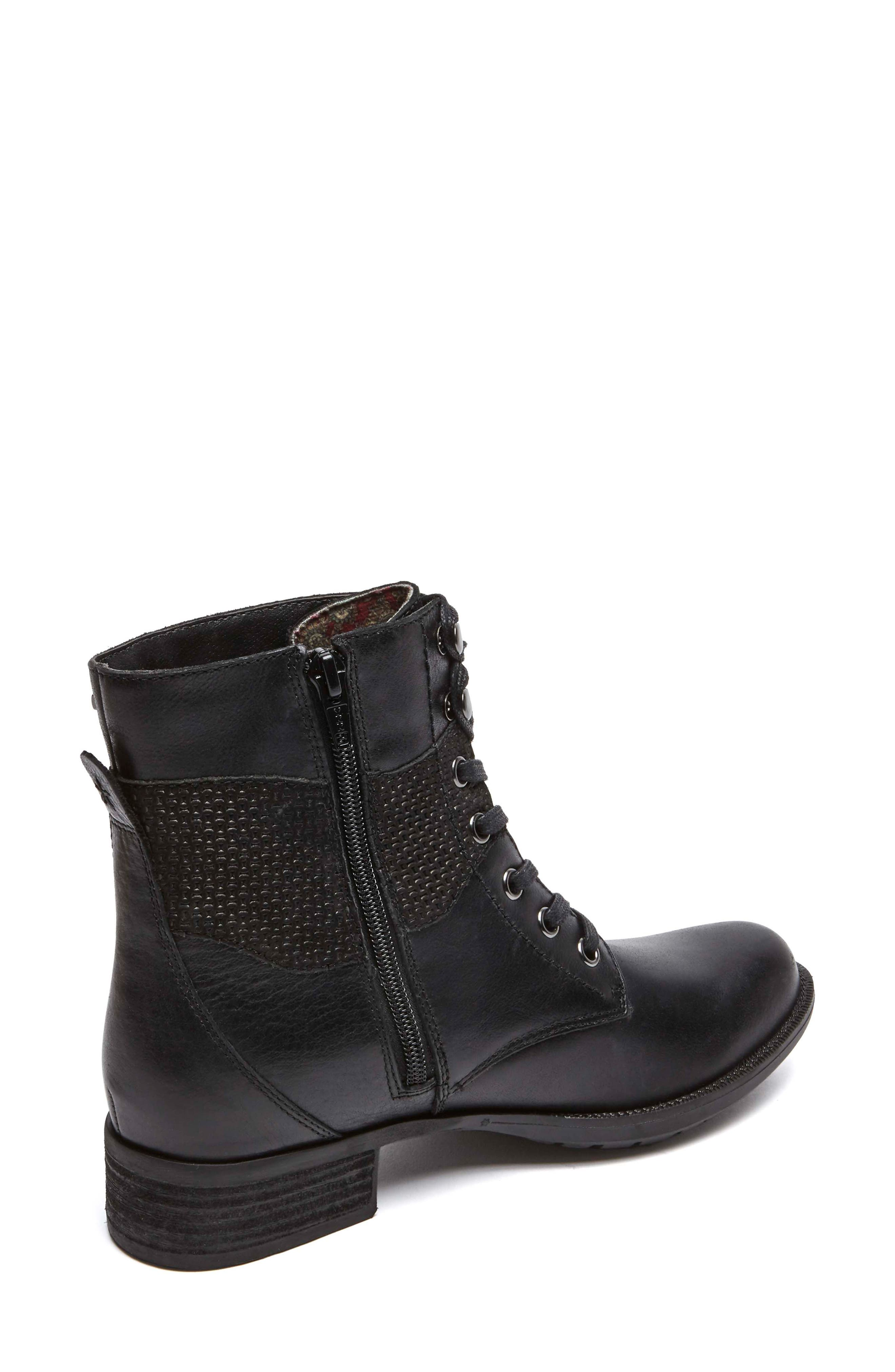 Copley Waterproof Combat Boot,                             Alternate thumbnail 2, color,                             Black Leather