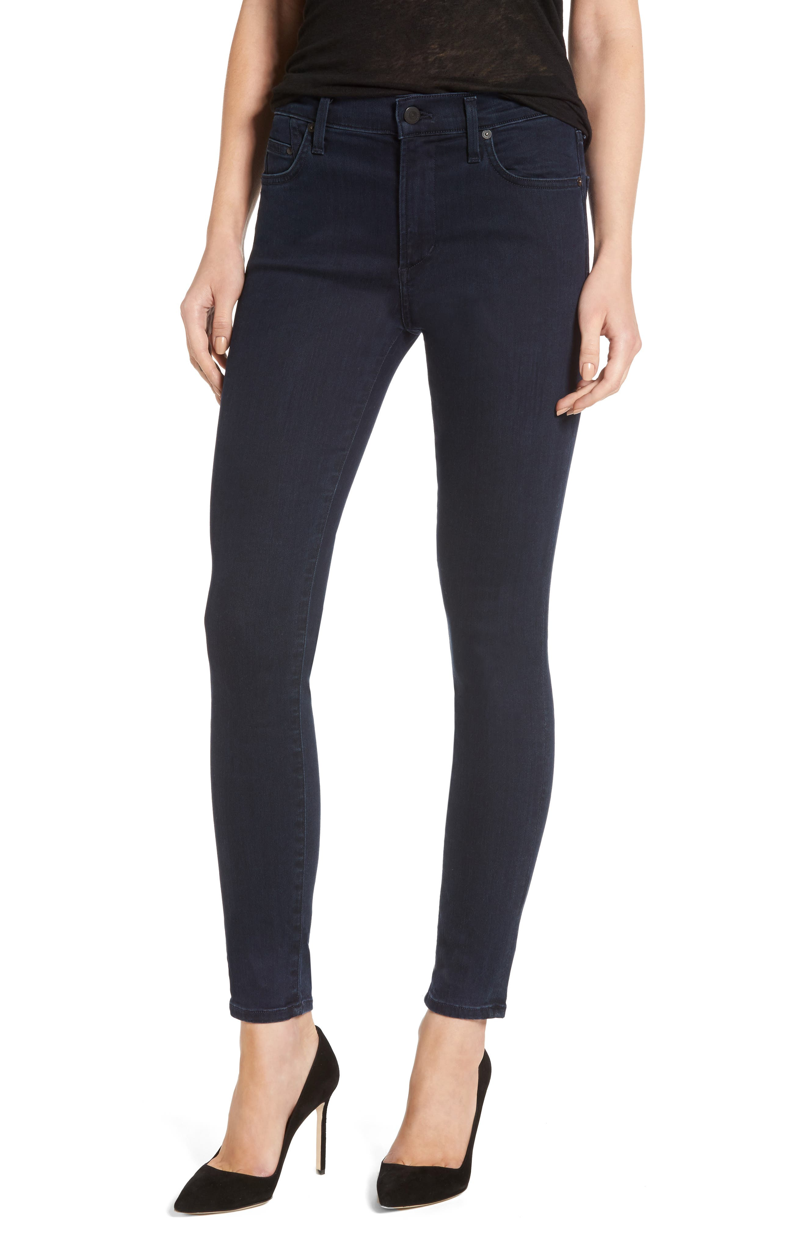 Rocket High Waist Skinny Jeans,                             Main thumbnail 1, color,                             Ozone Ink