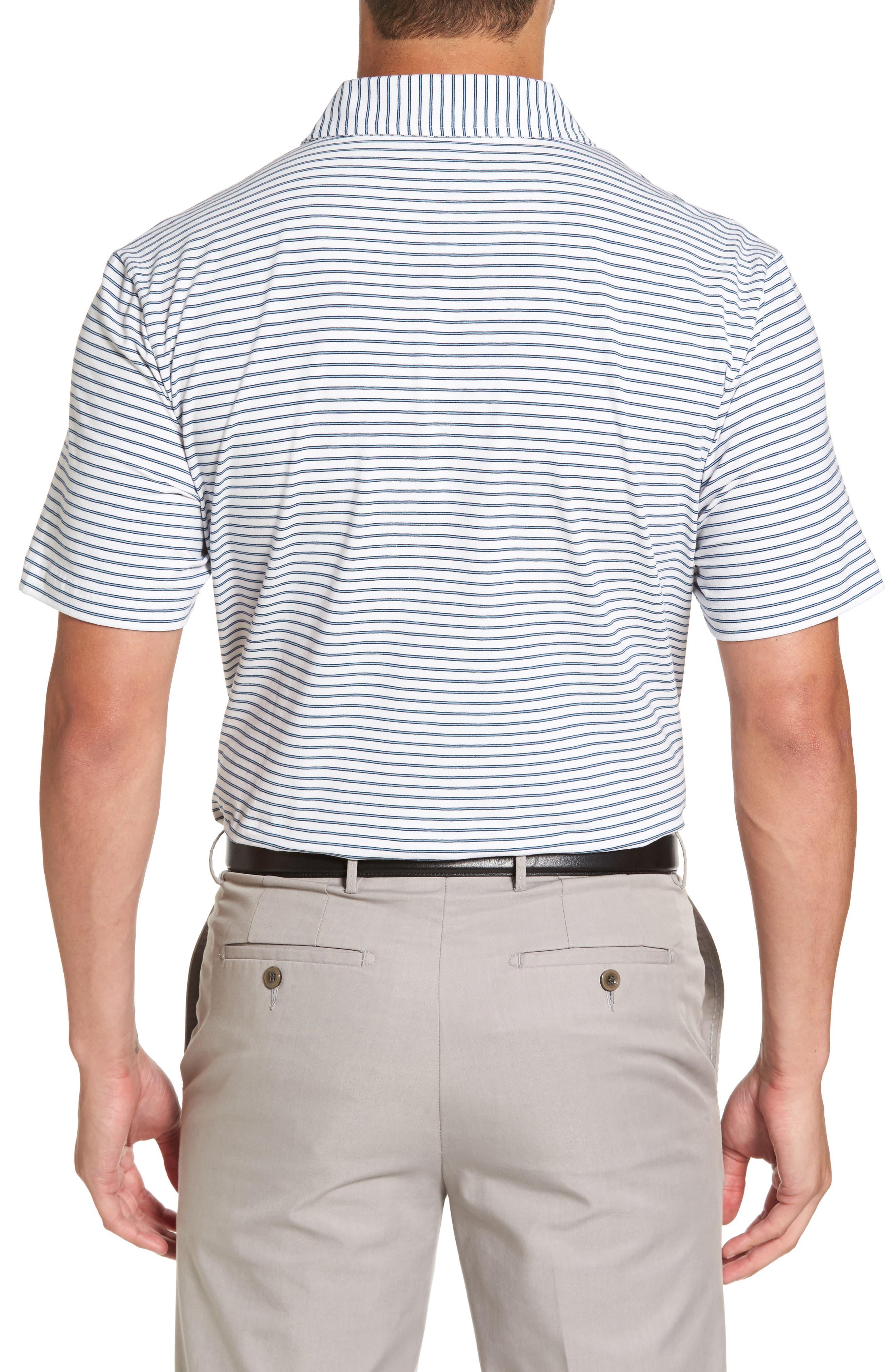 Stratton Mountainside Stripe Jersey Polo,                             Alternate thumbnail 2, color,                             White
