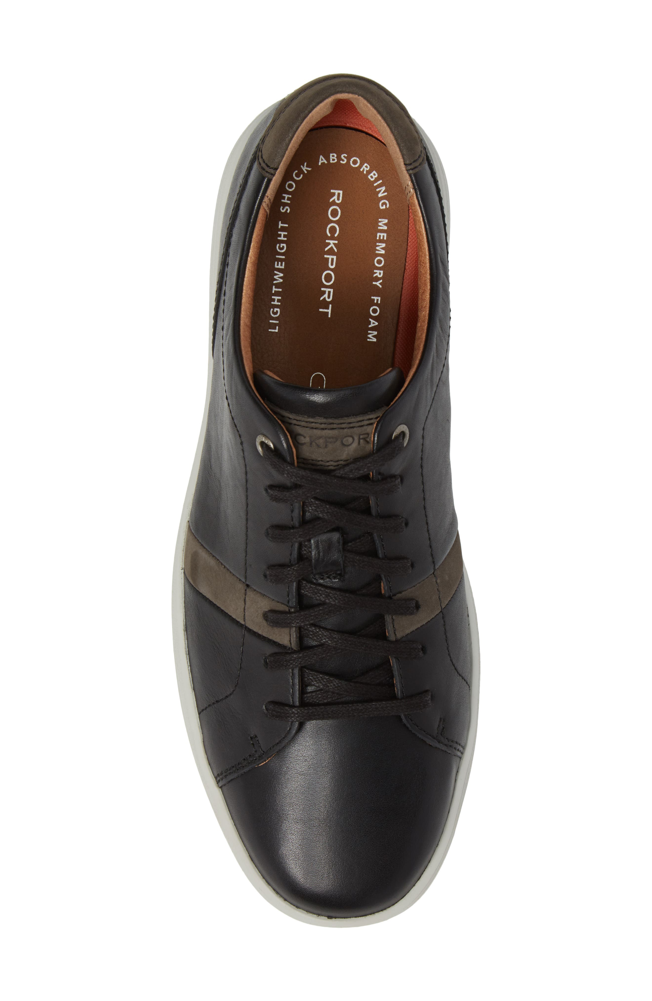 Thurston Sneaker,                             Alternate thumbnail 5, color,                             Black Leather