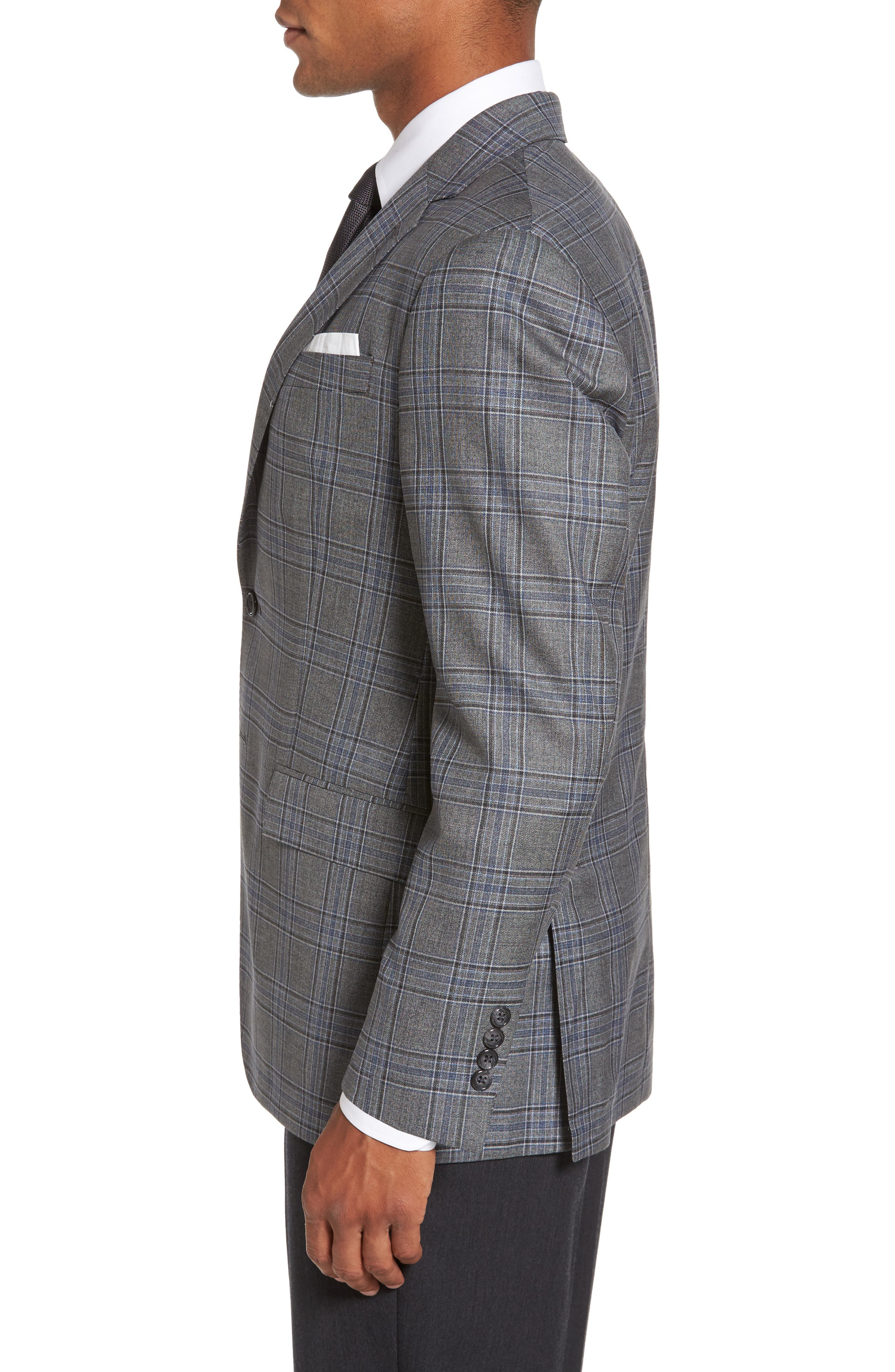Alternate Image 3  - Todd Snyder White Label Trim Fit Plaid Wool Sport Coat