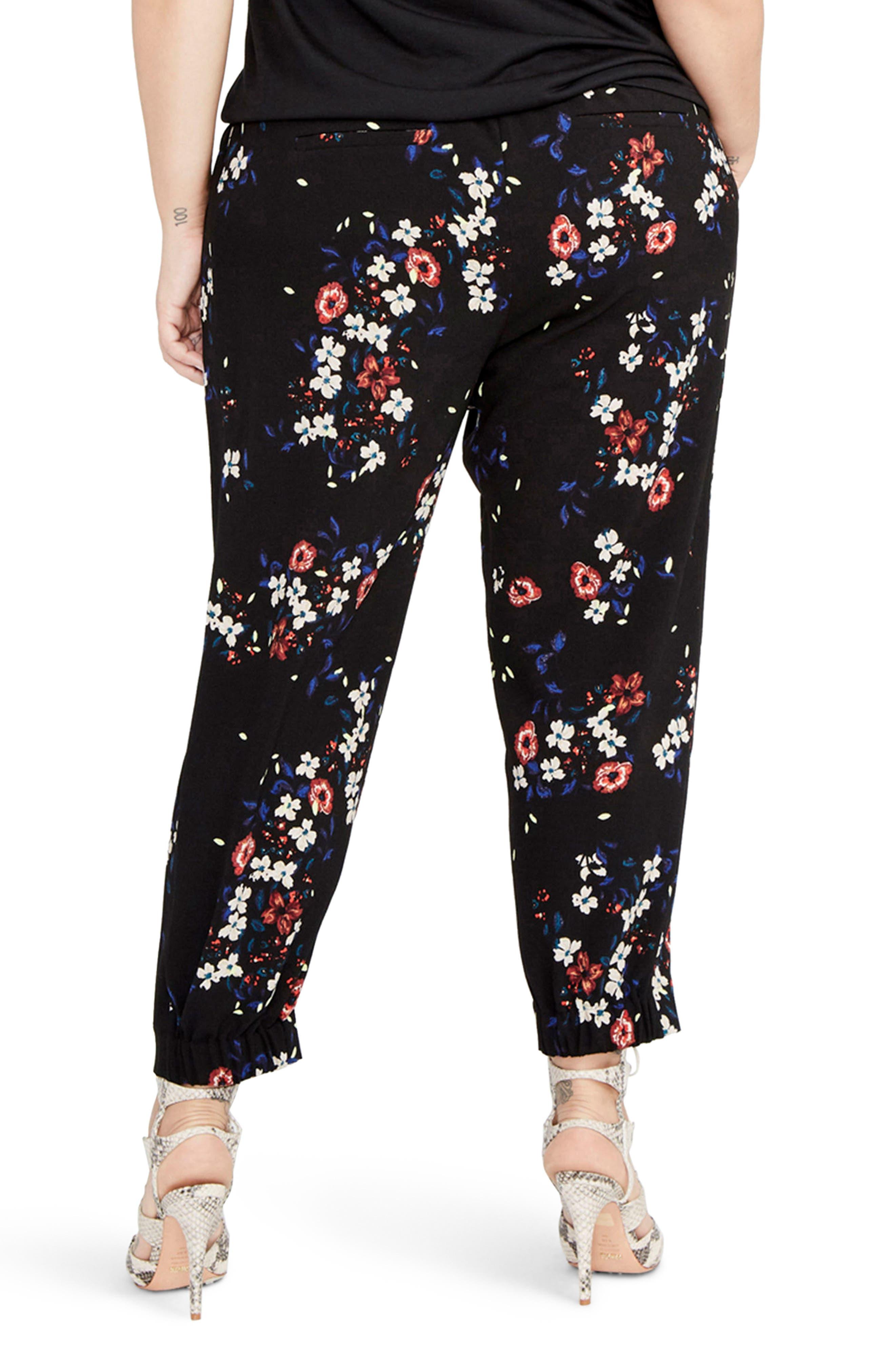 Alternate Image 2  - RACHEL Rachel Roy Floral Jogger Pants (Plus Size)