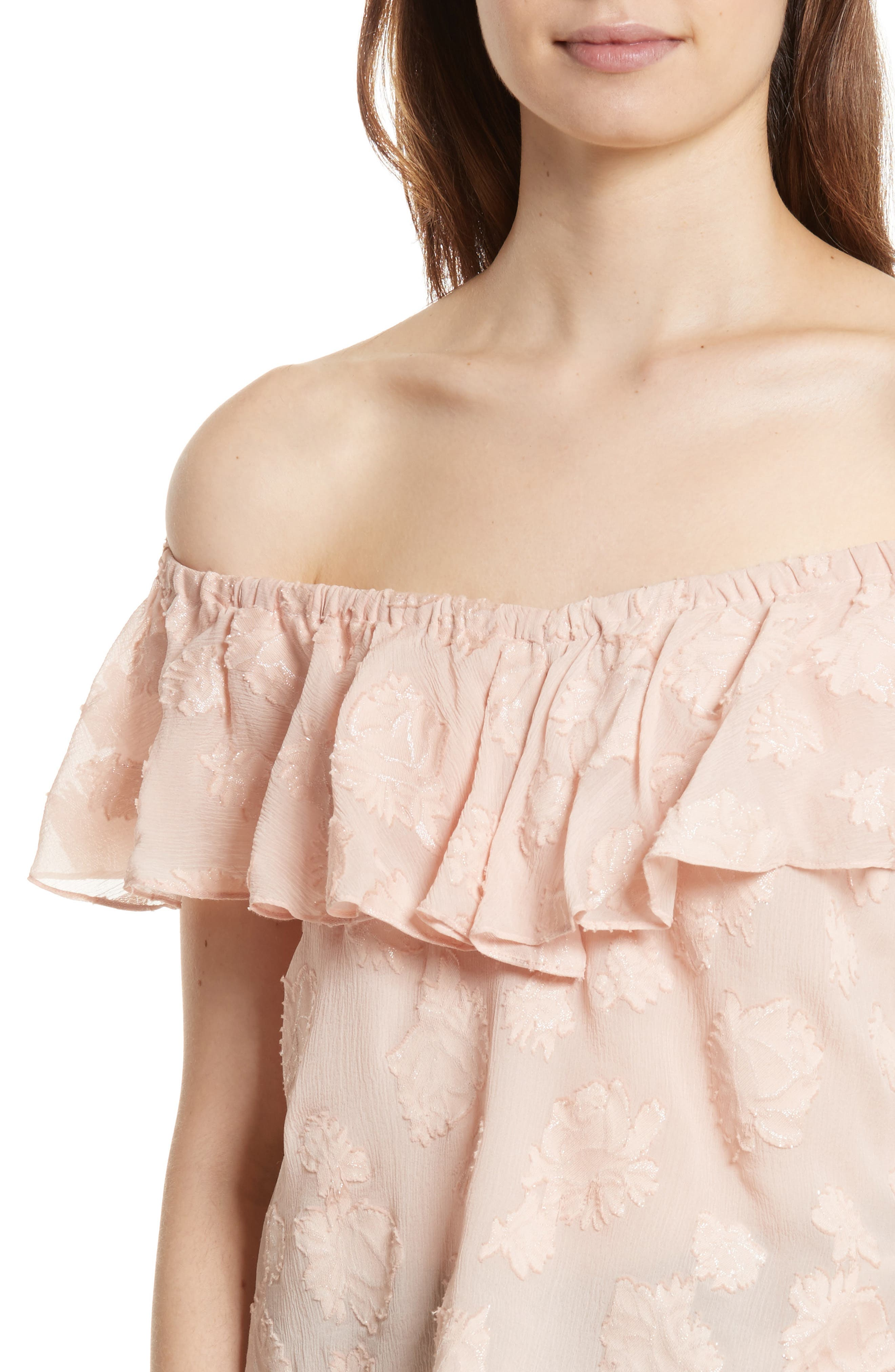 Alternate Image 4  - Rebecca Taylor Rose Metallic Top