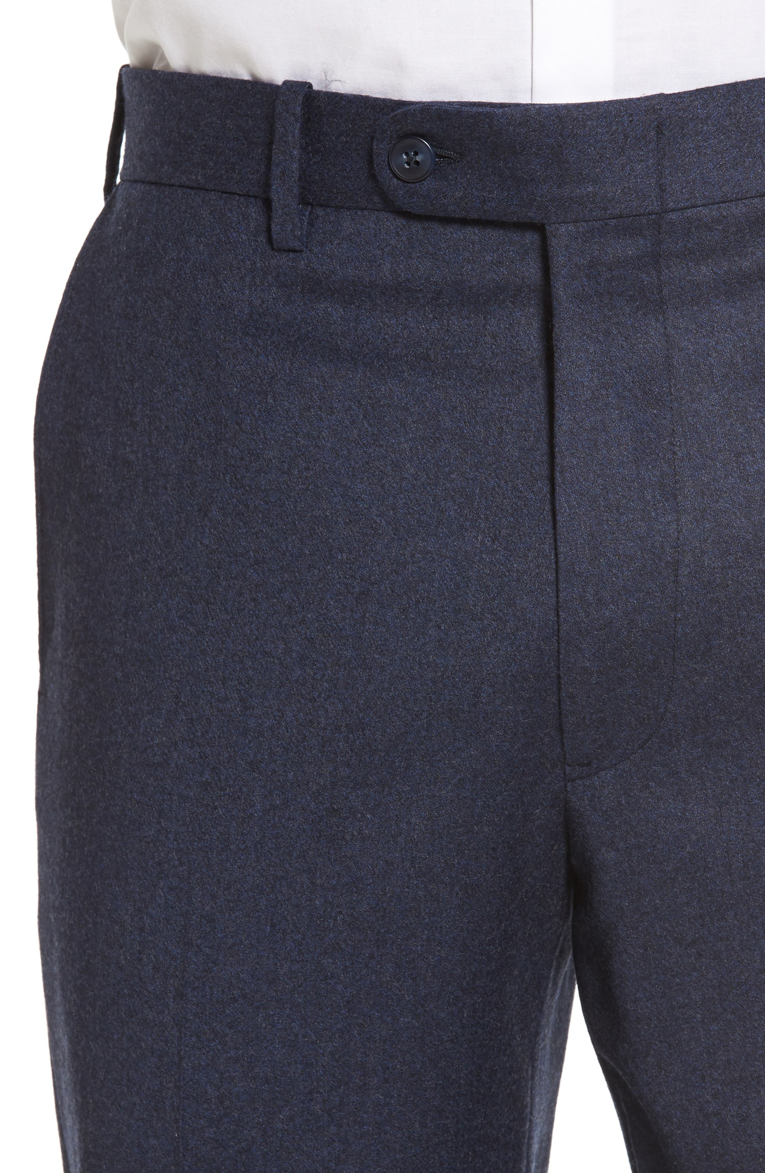 Alternate Image 4  - JB Britches Flat Front Solid Wool & Cashmere Trousers