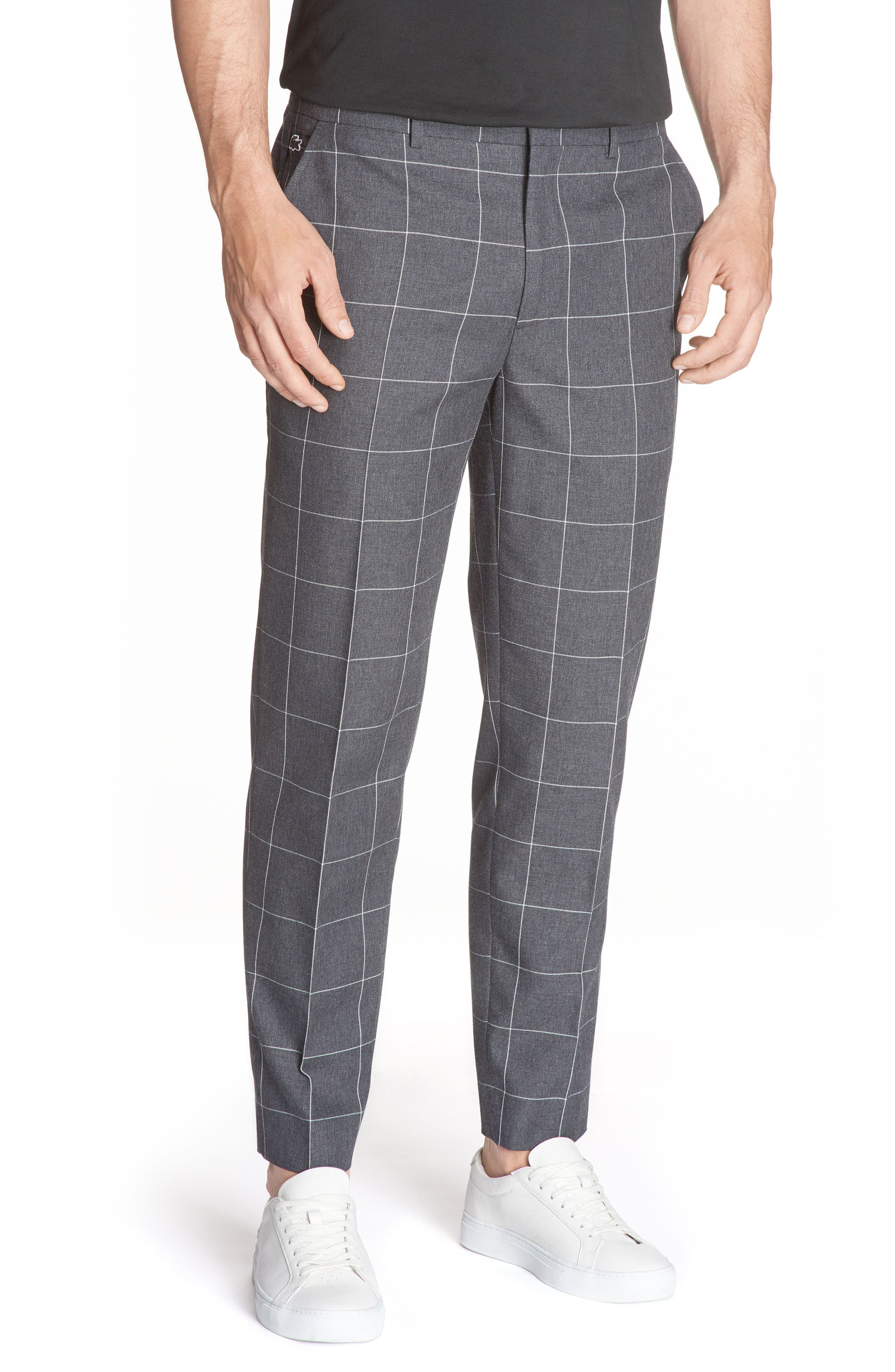 Main Image - Lacoste Check Flannel Pants