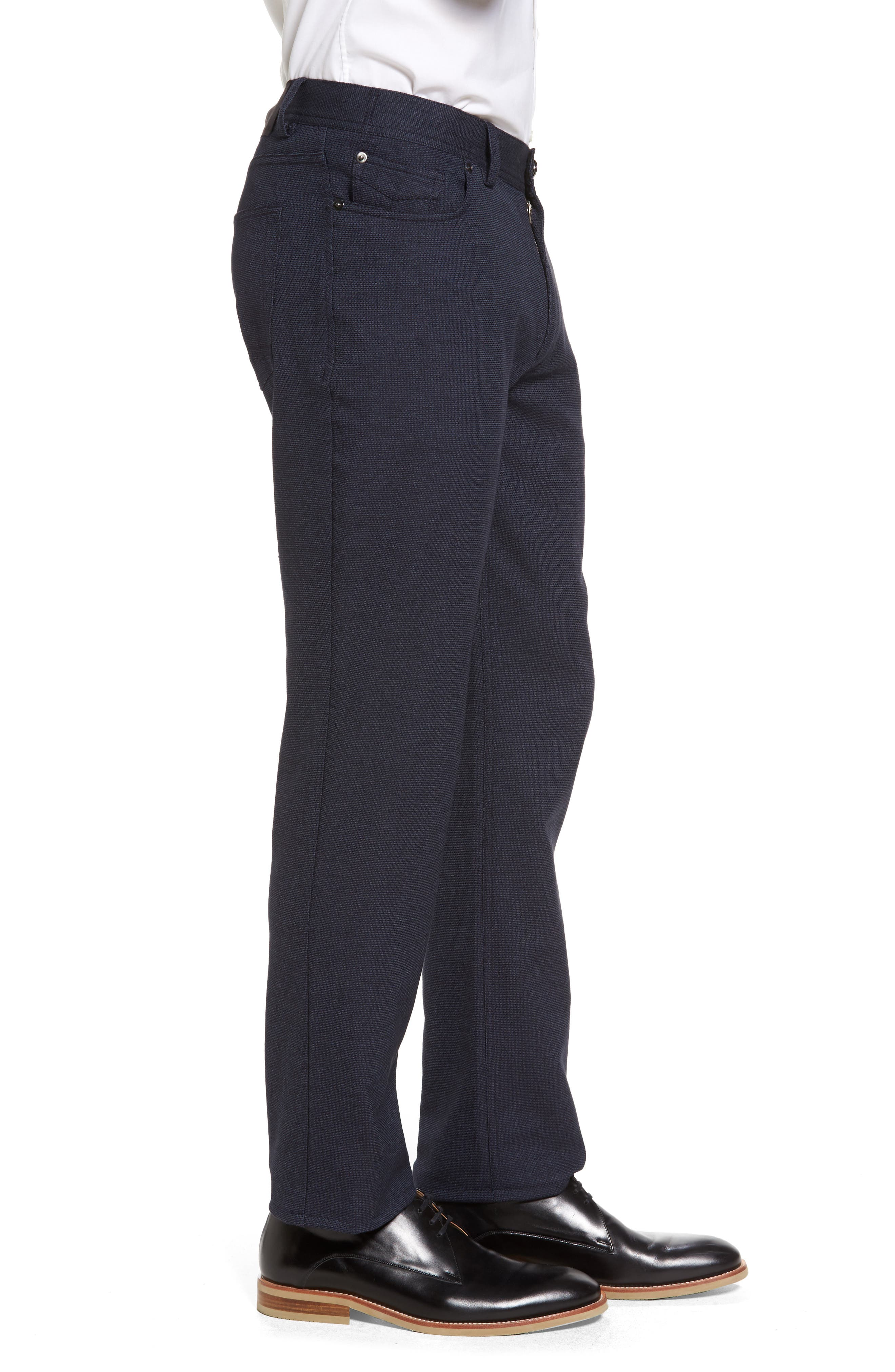 Vince Slim Fit Stretch Five-Pocket Pants,                             Alternate thumbnail 3, color,                             Navy Digital Neat