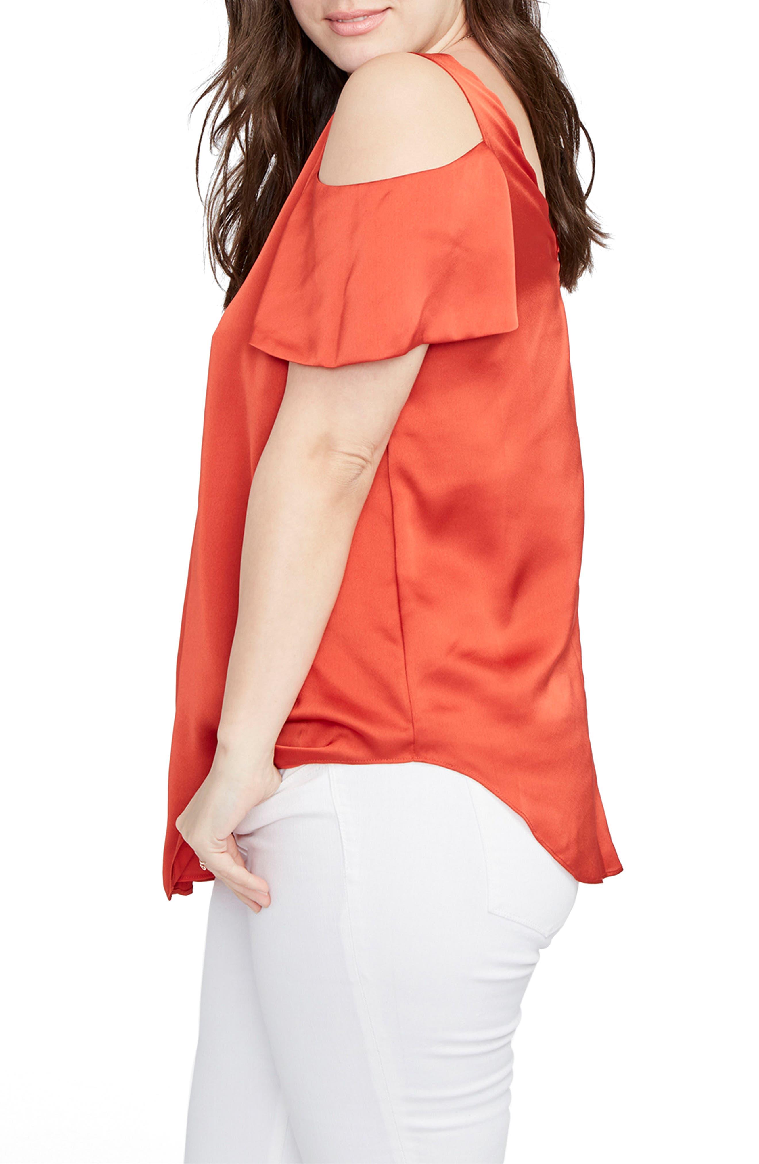 Alternate Image 3  - RACHEL Rachel Roy Cold Shoulder Top (Plus Size)
