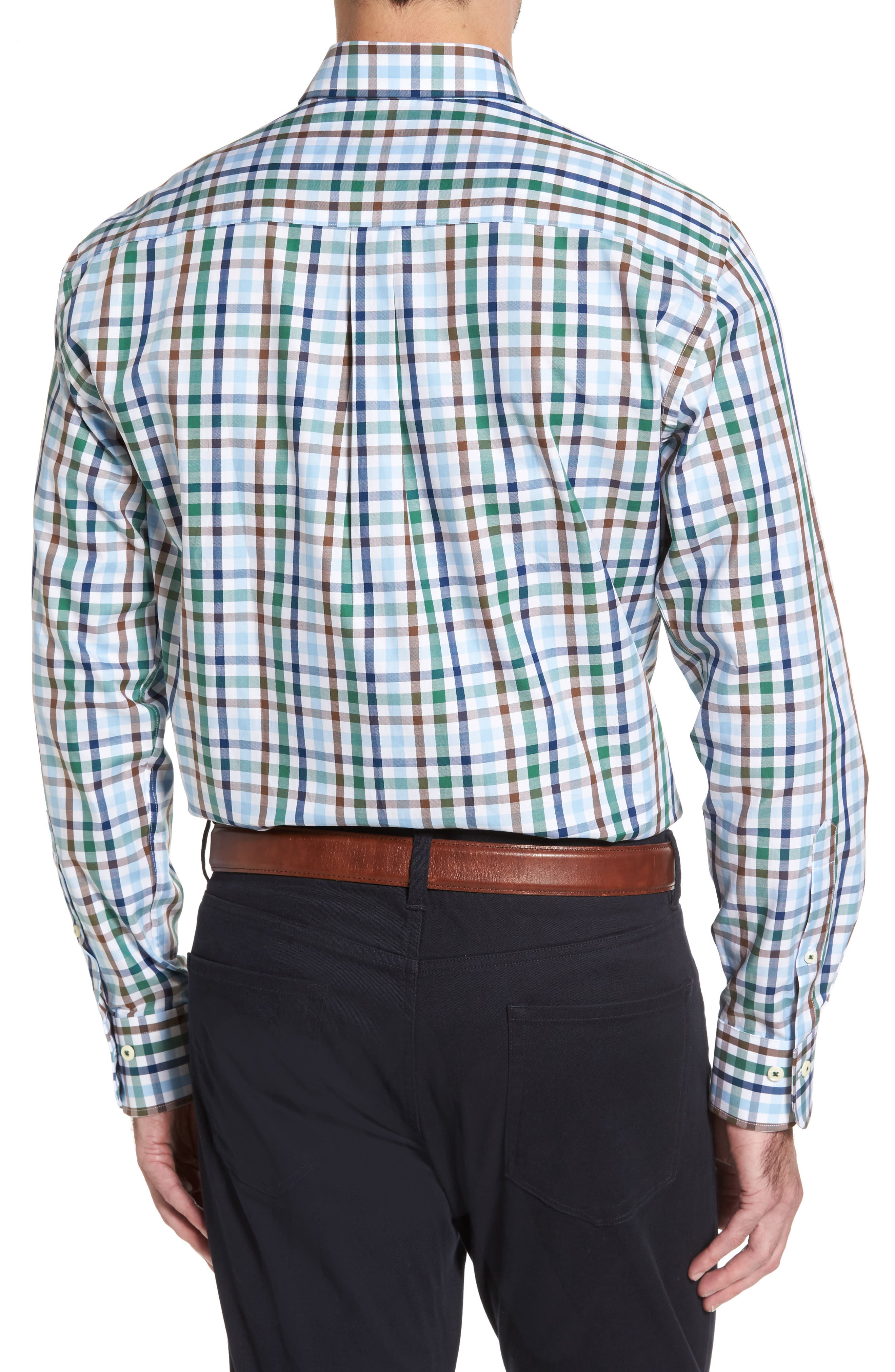 Alternate Image 2  - Peter Millar Trail Check Sport Shirt