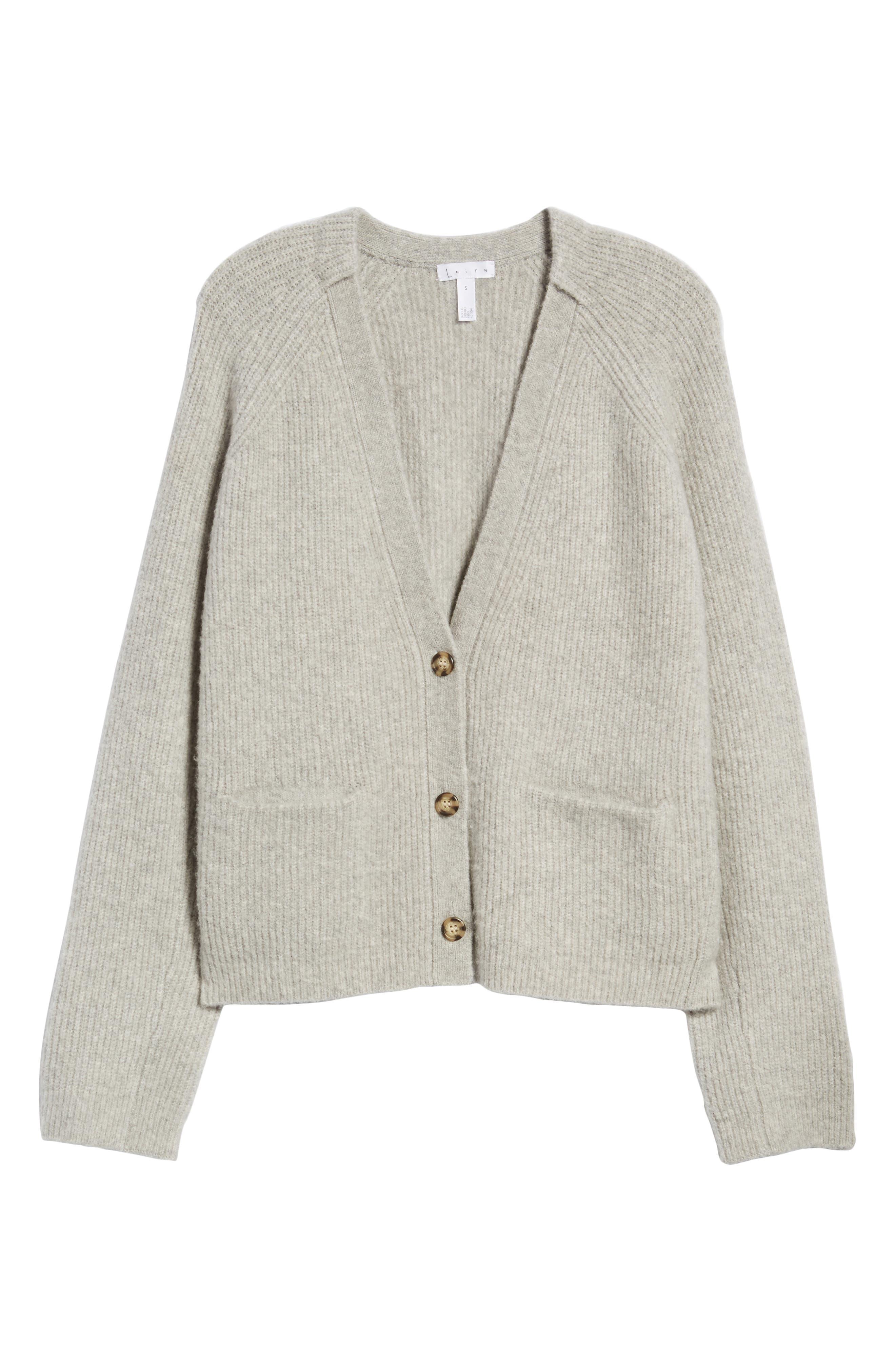 Cardigan Sweater,                             Alternate thumbnail 6, color,                             Grey Med Htr