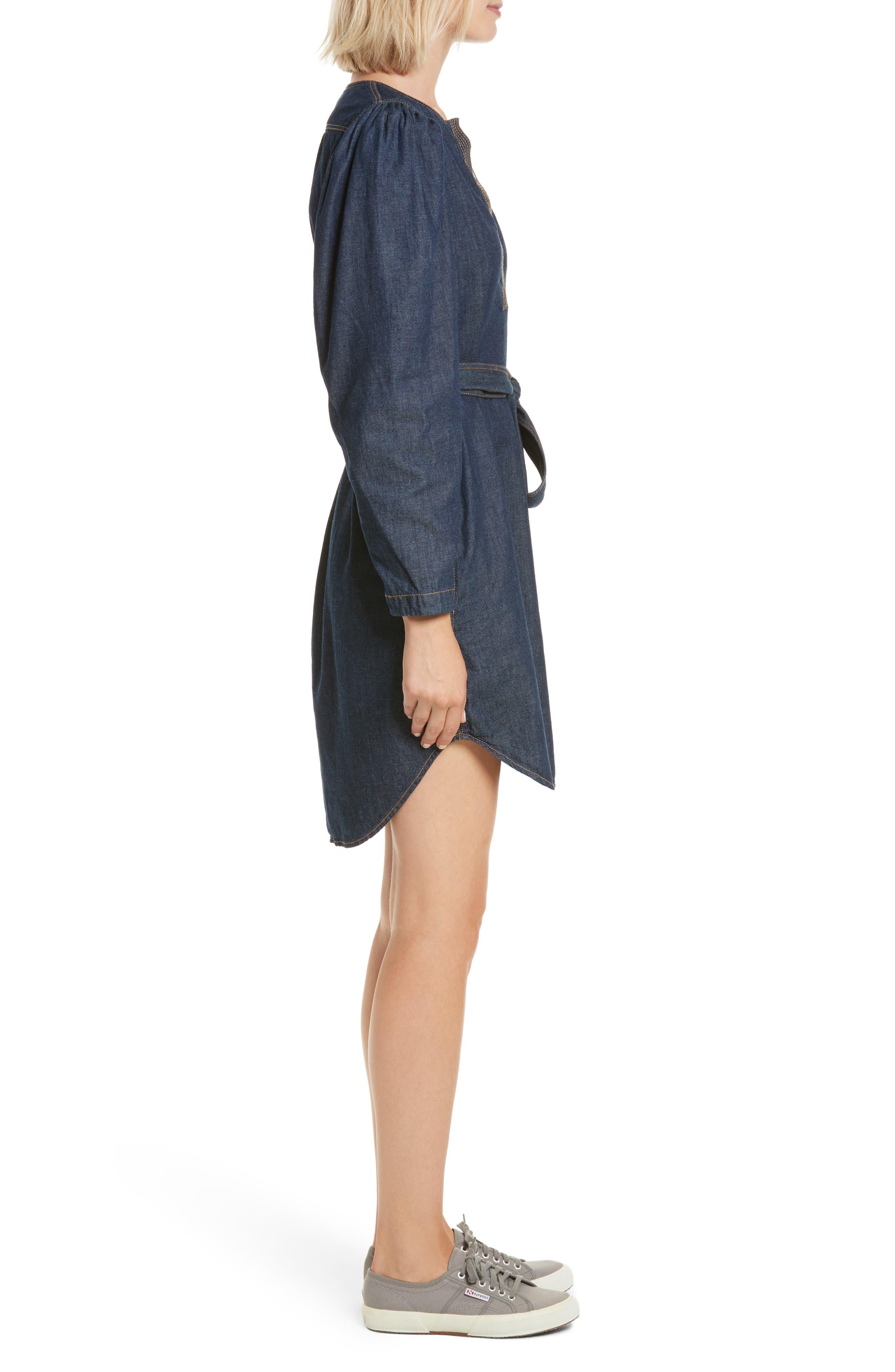 Alternate Image 3  - Rebecca Taylor Belted Denim Dress