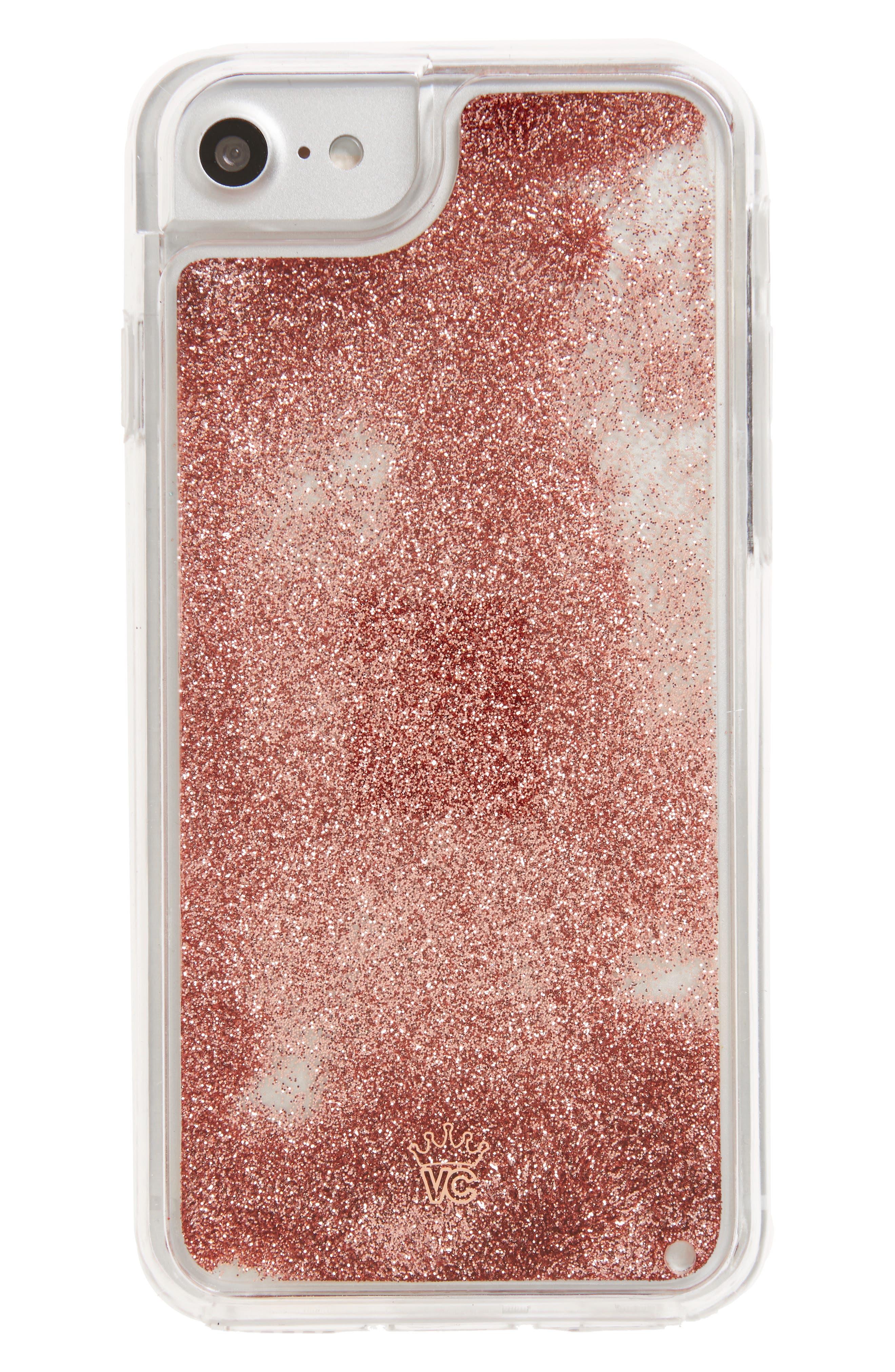 VELVET CAVIAR Rose Gold Glitter iPhone 7 Case