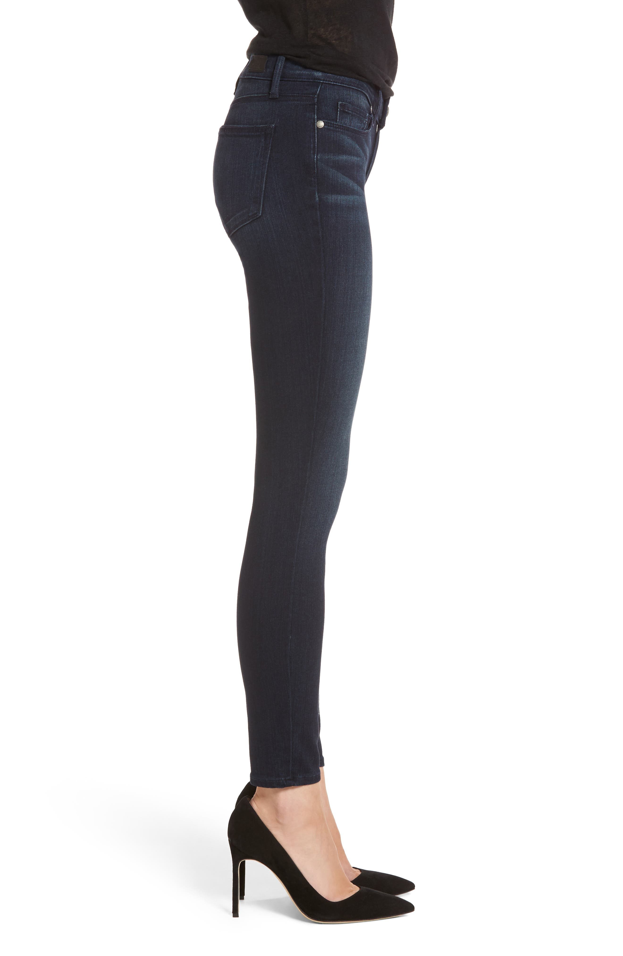 Transcend - Verdugo Ankle Skinny Jeans,                             Alternate thumbnail 3, color,                             Midlake
