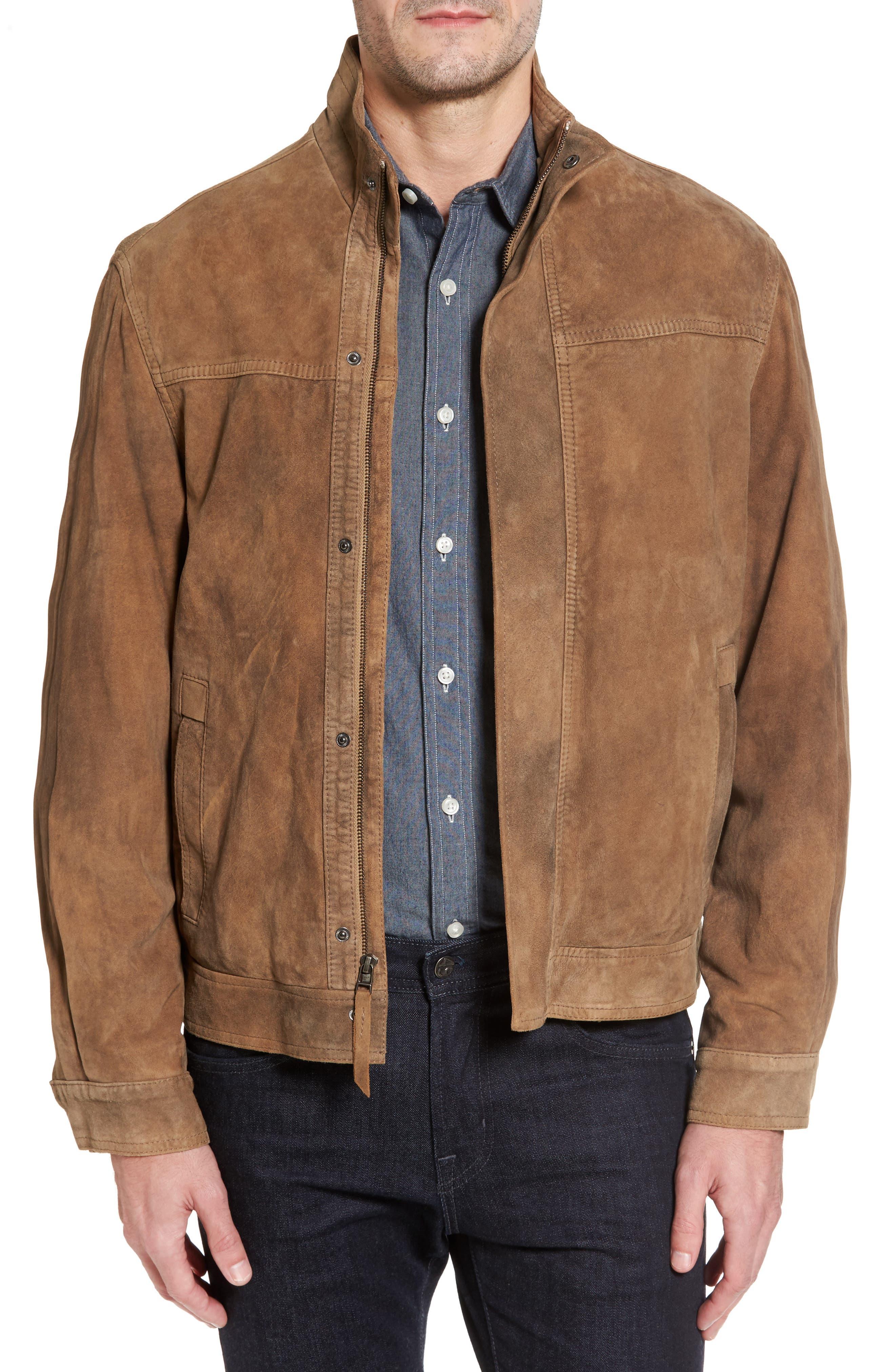 Lambskin Suede Jacket,                         Main,                         color, Mushroom