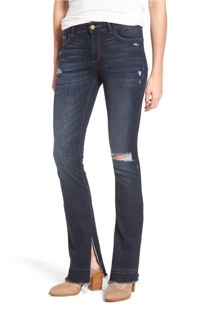 Dl1961 Bridget Split Hem Bootcut Jeans Huntington