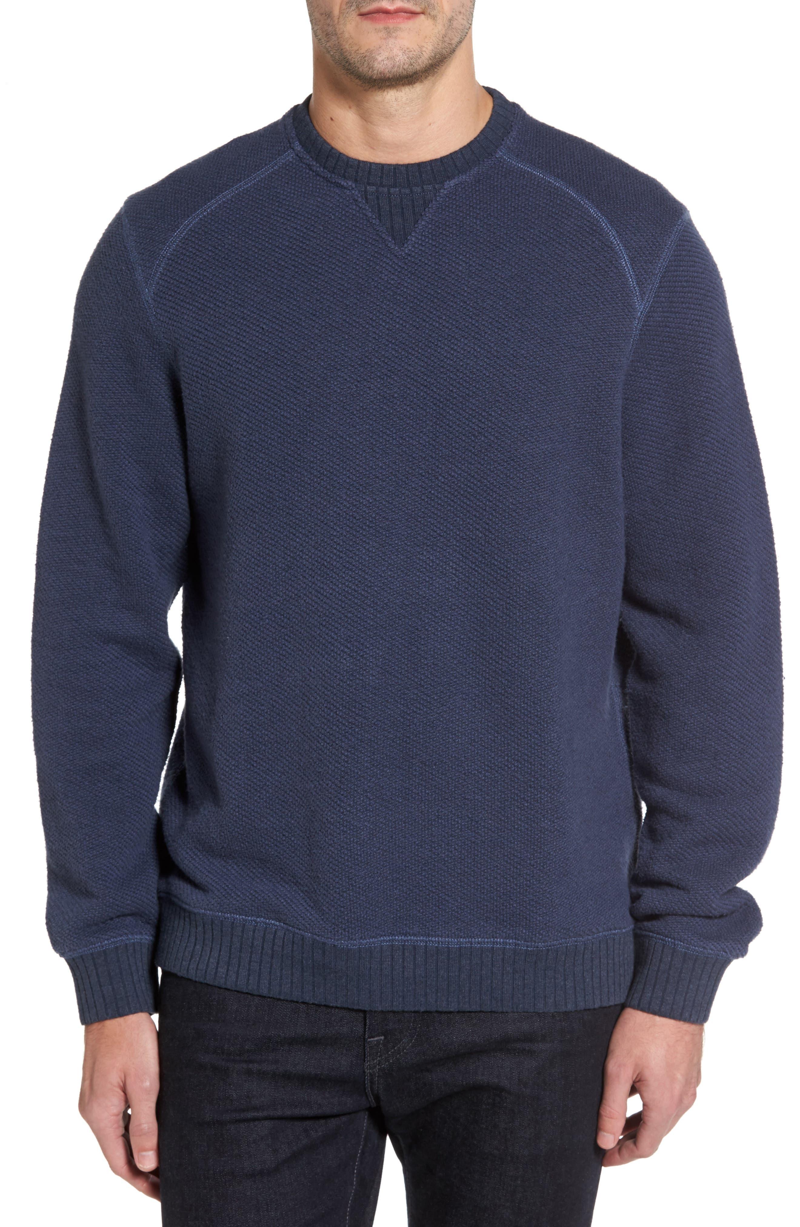 Surfari Crewneck Sweatshirt,                         Main,                         color, Ocean Deep Heather