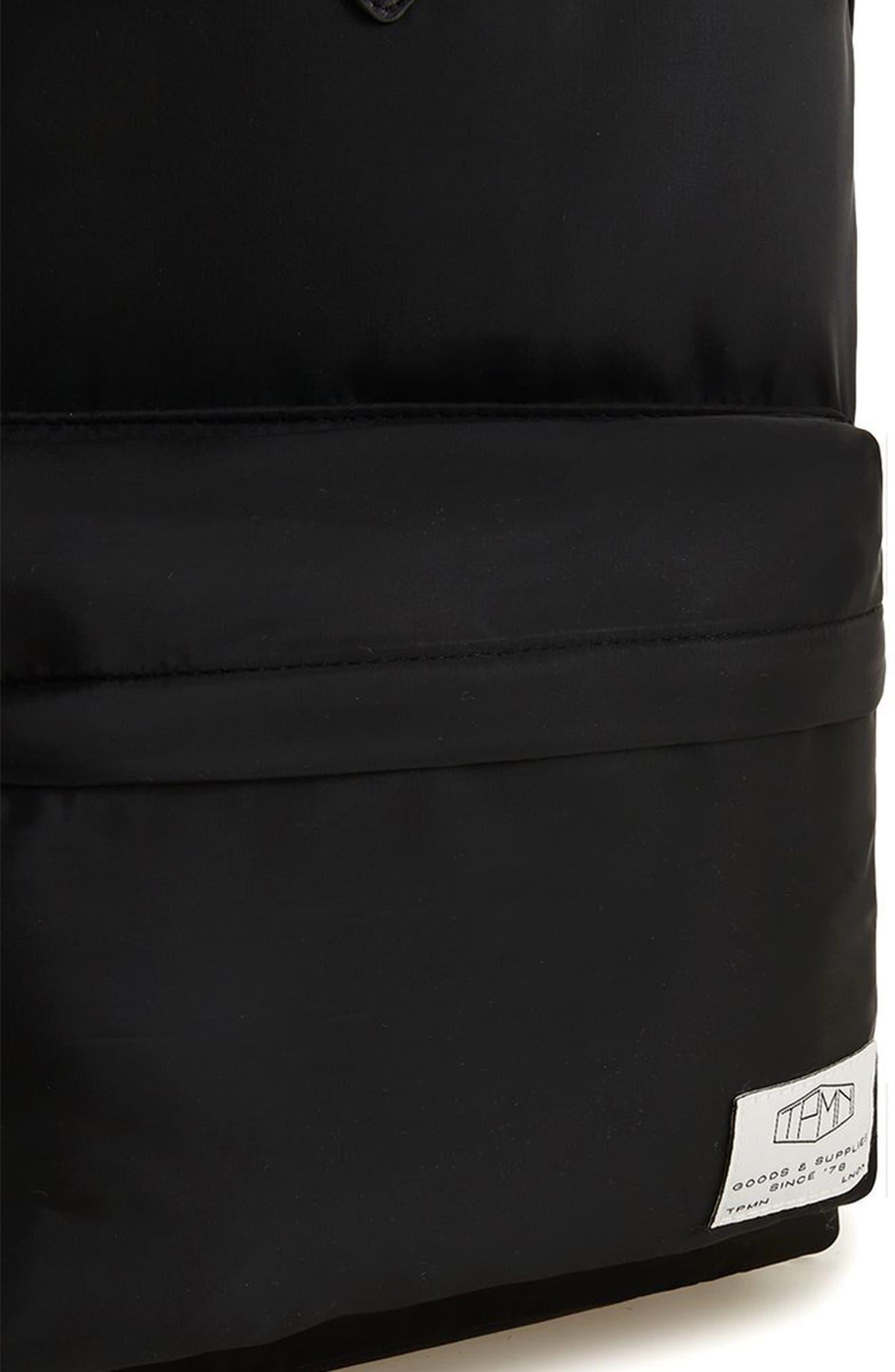 Ripstop Backpack,                             Alternate thumbnail 3, color,                             Black