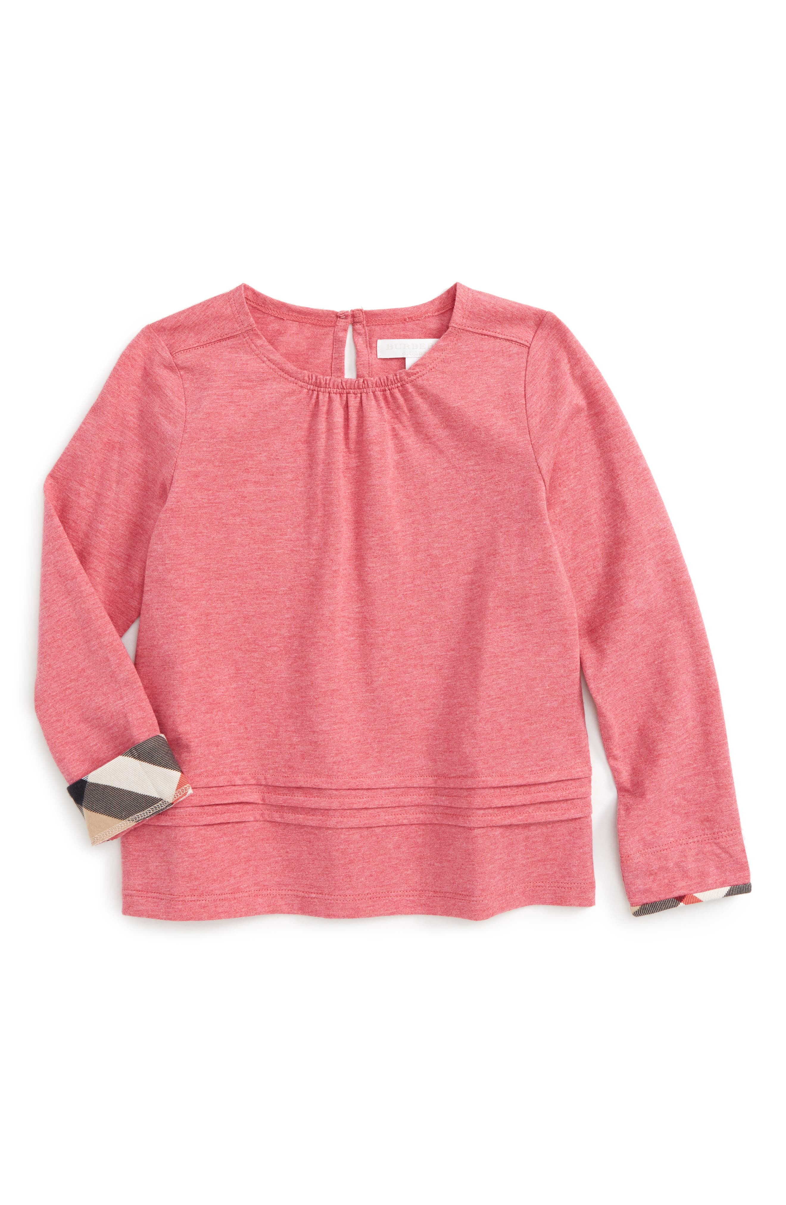 Main Image - Burberry Gisselle Cotton Top (Baby Girls)