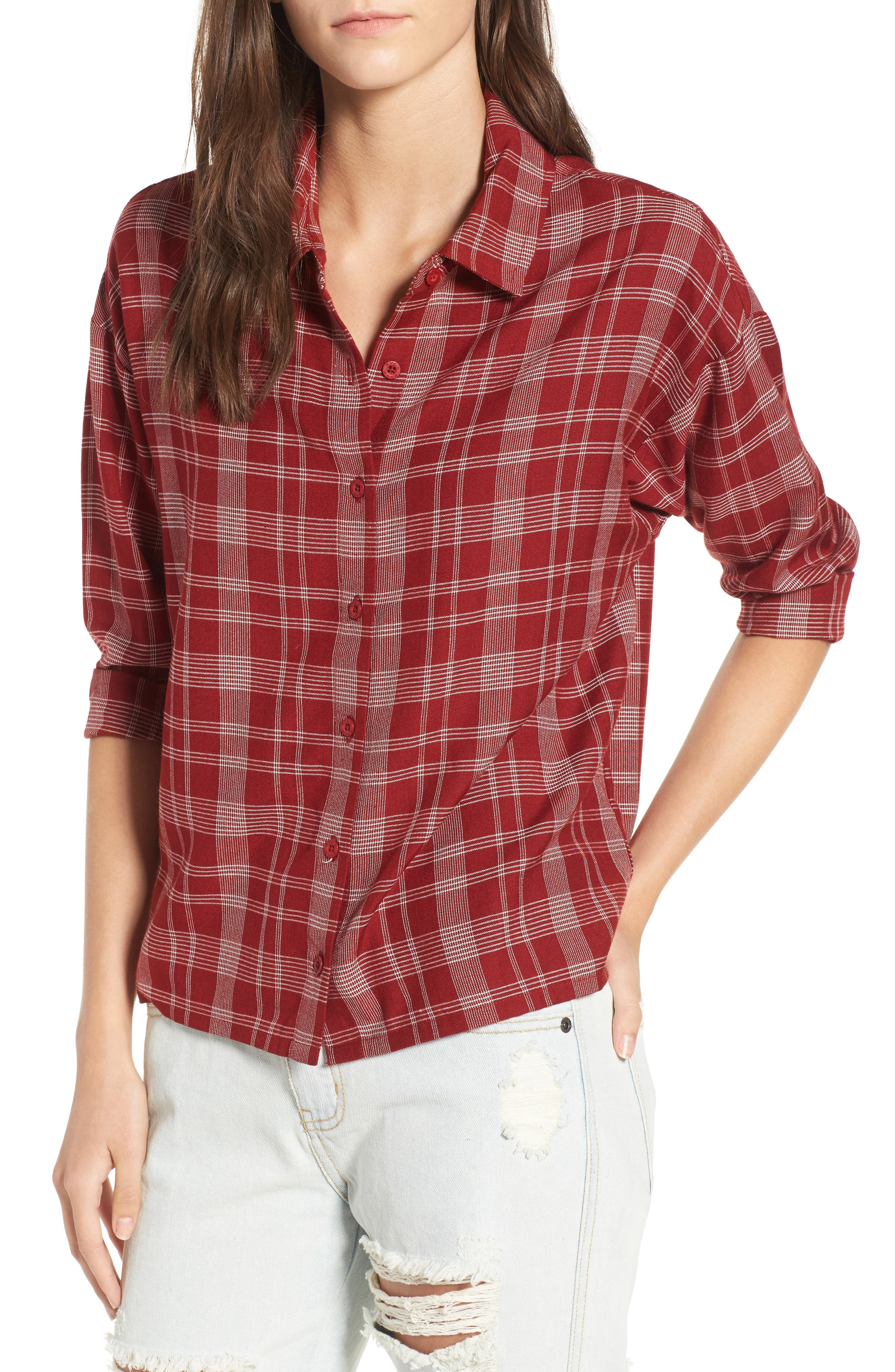 Main Image - RVCA Drift Away Plaid Shirt