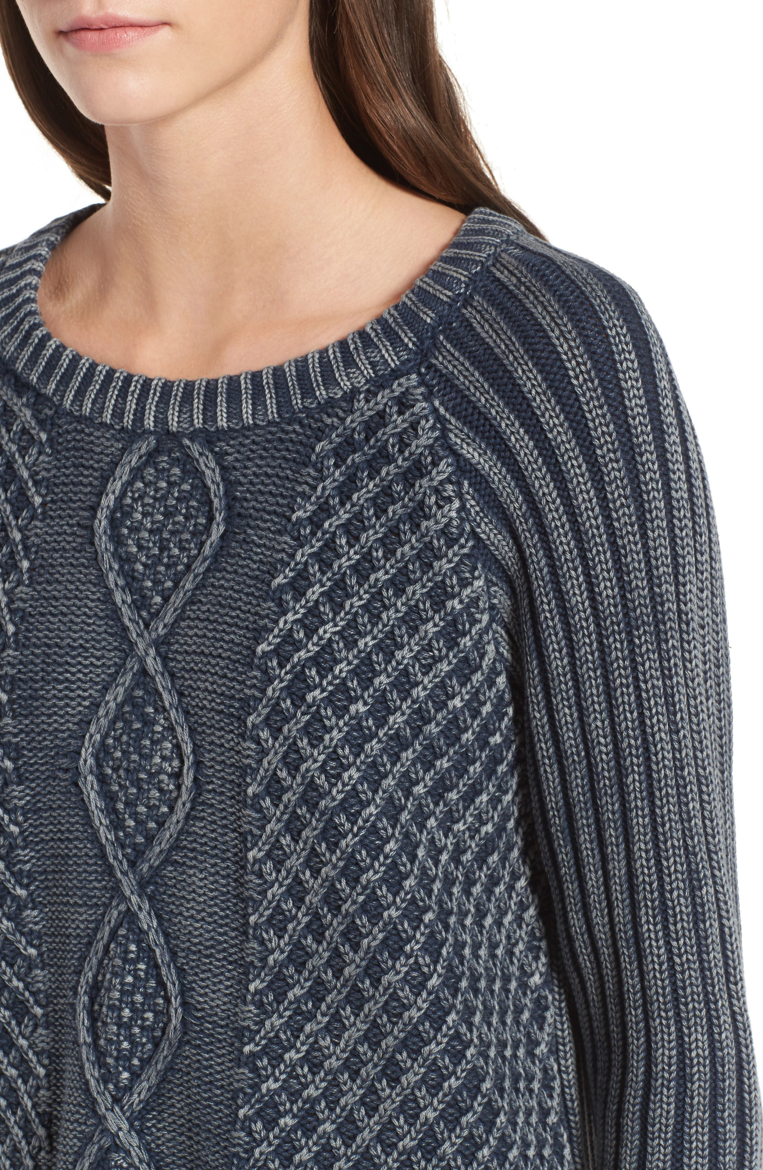 Gamenight Sweater,                             Alternate thumbnail 3, color,                             Federal Blue