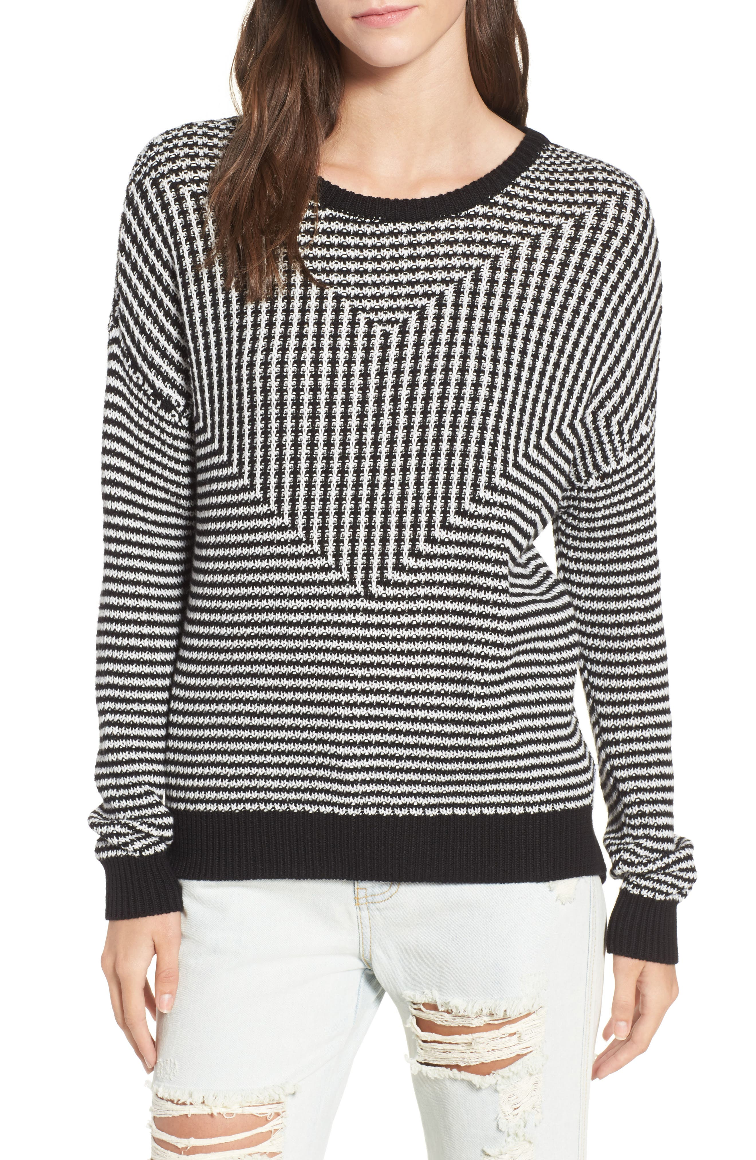 Main Image - RVCA Light Up Stripe Sweater