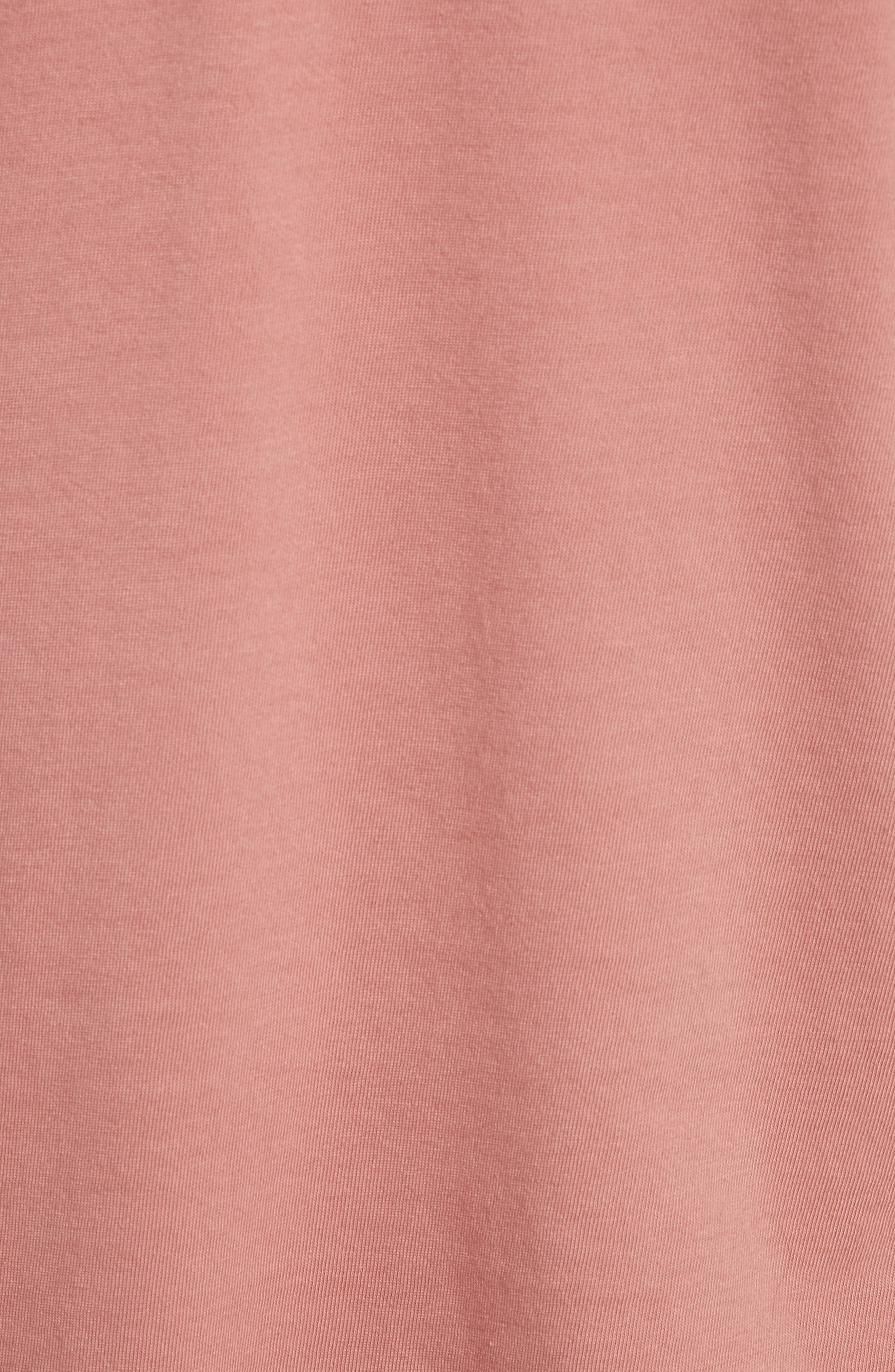 Point d'Esprit & Jersey Top,                             Alternate thumbnail 5, color,                             Antique Rose Light