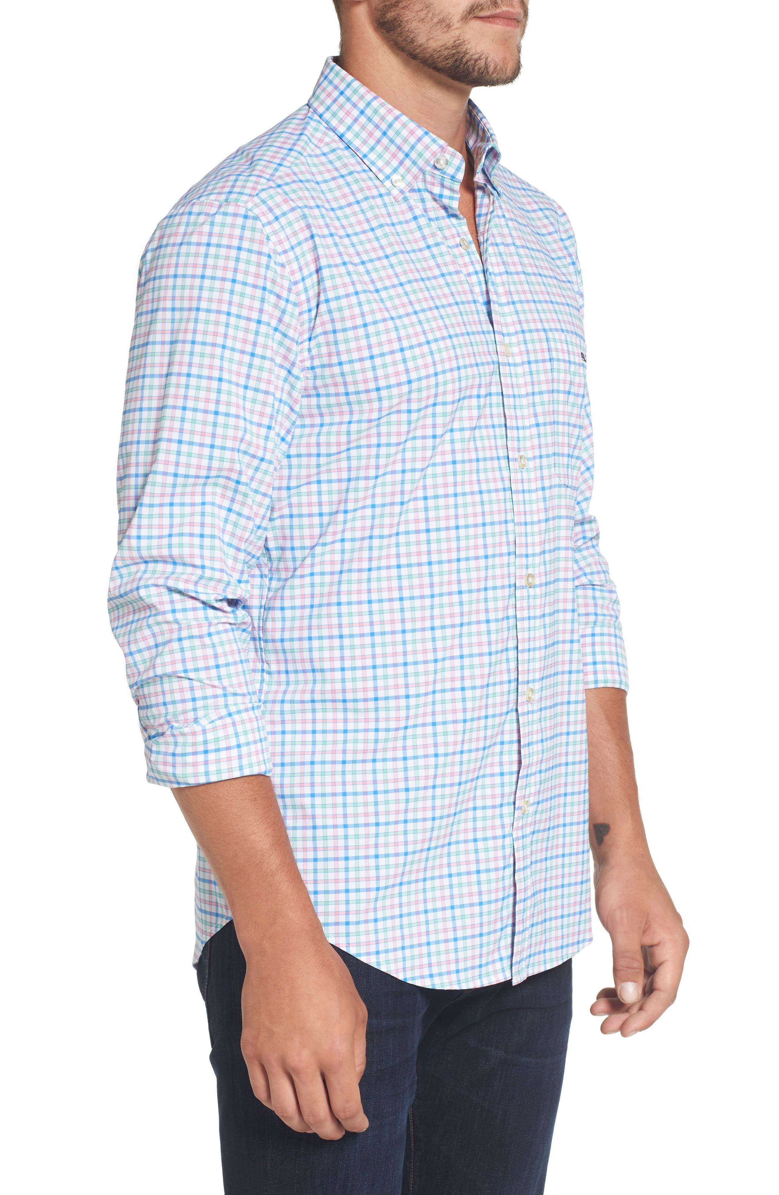Alternate Image 3  - vineyard vines Tucker Orchid Check Performance Sport Shirt