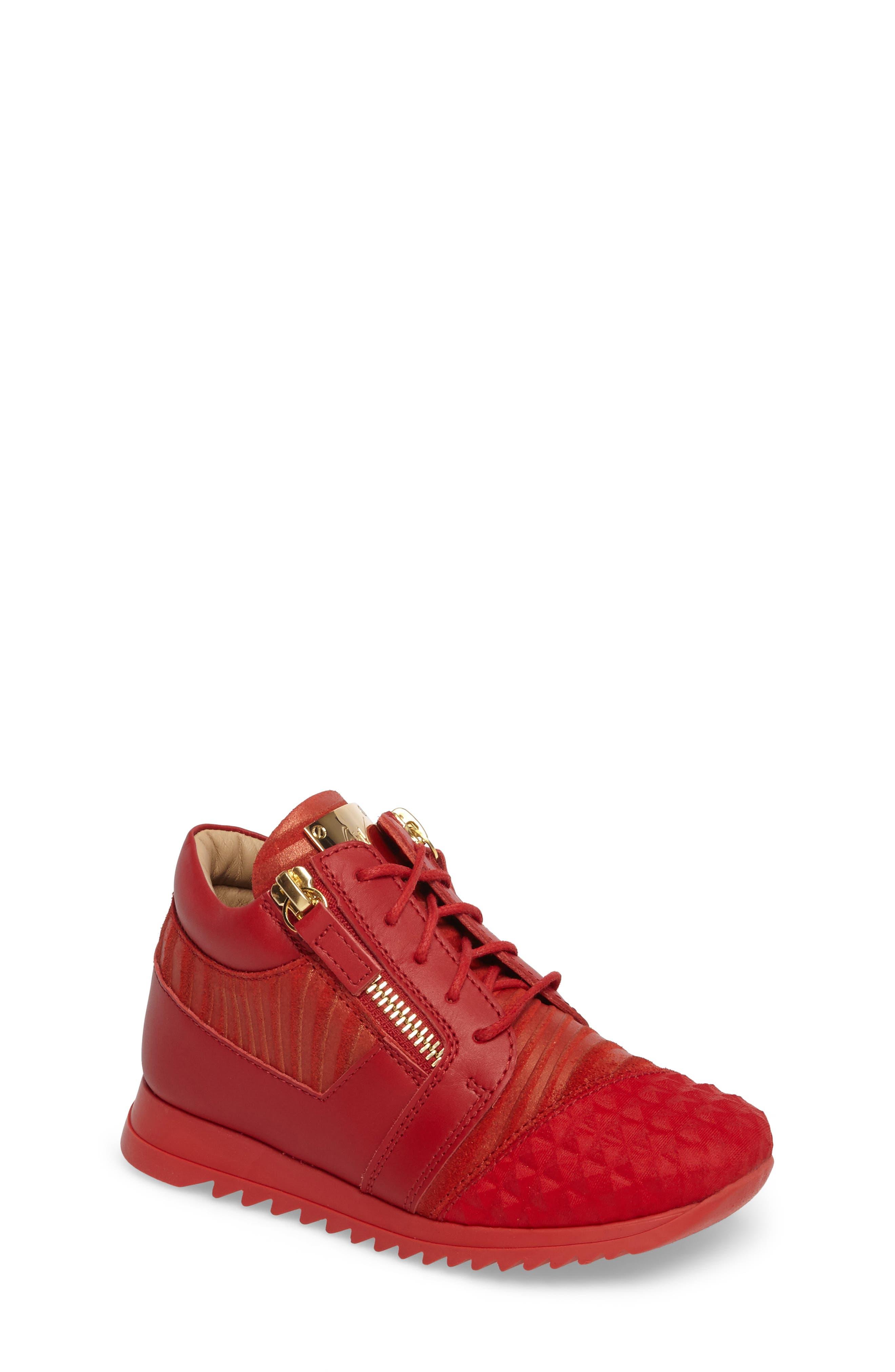 Alternate Image 1 Selected - Giuseppe Zanotti Iperstud Embossed Sneaker (Baby, Walker, Toddler & Little Kid)