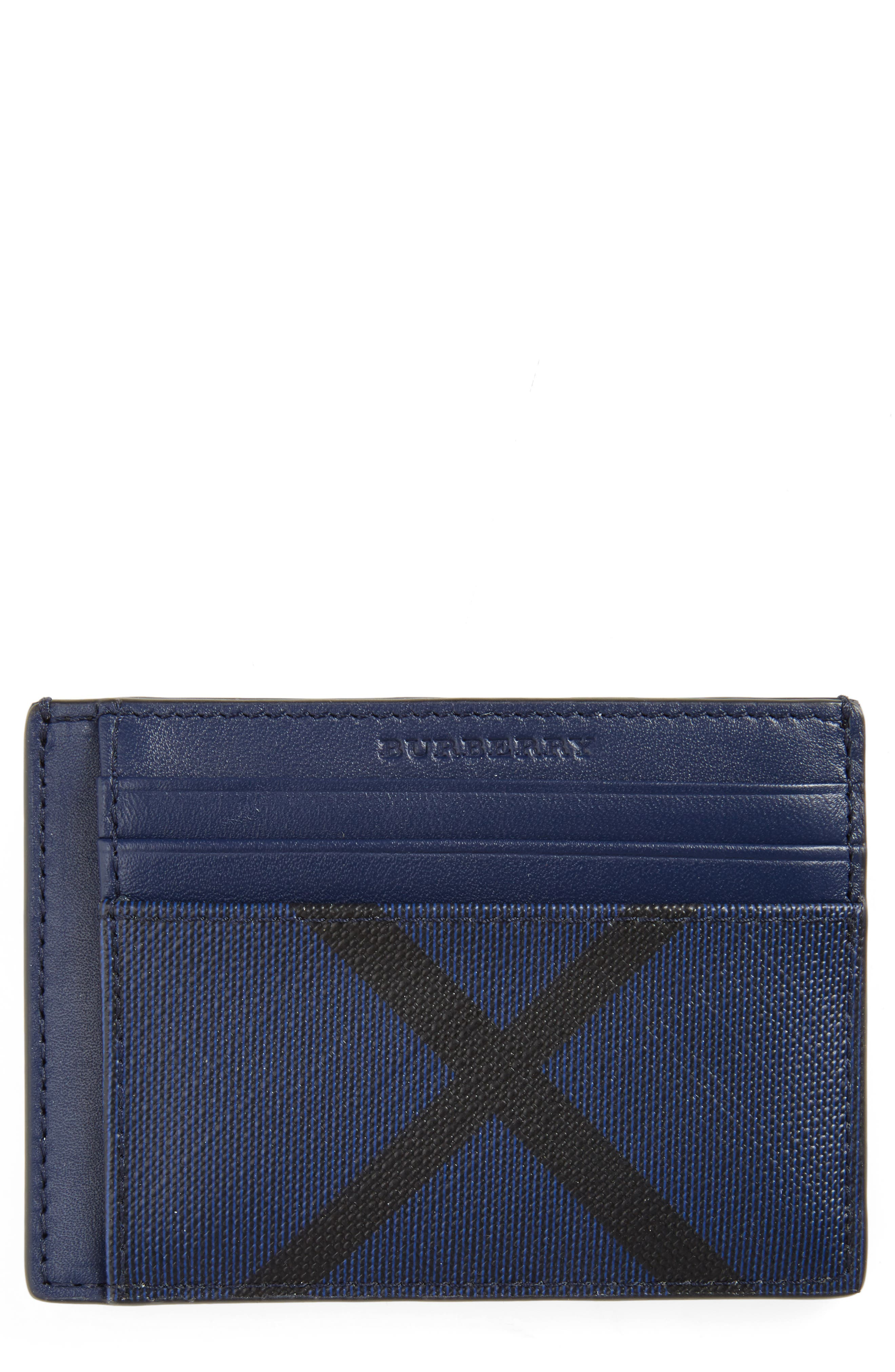 Burberry 'Bernie' Money Clip Card Case
