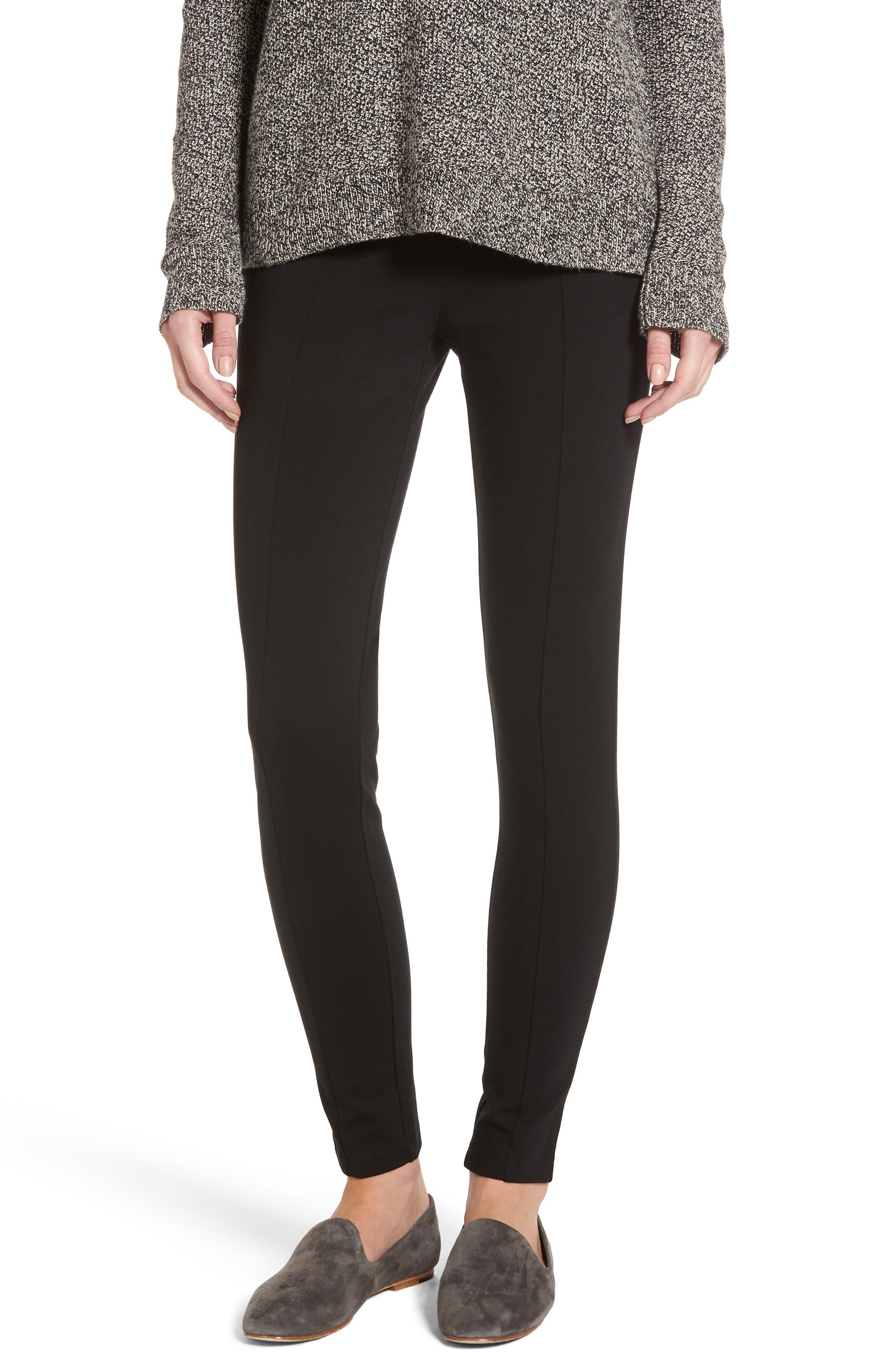 Halogen® Seamed Ponte Knit Leggings (Regular & Petite)
