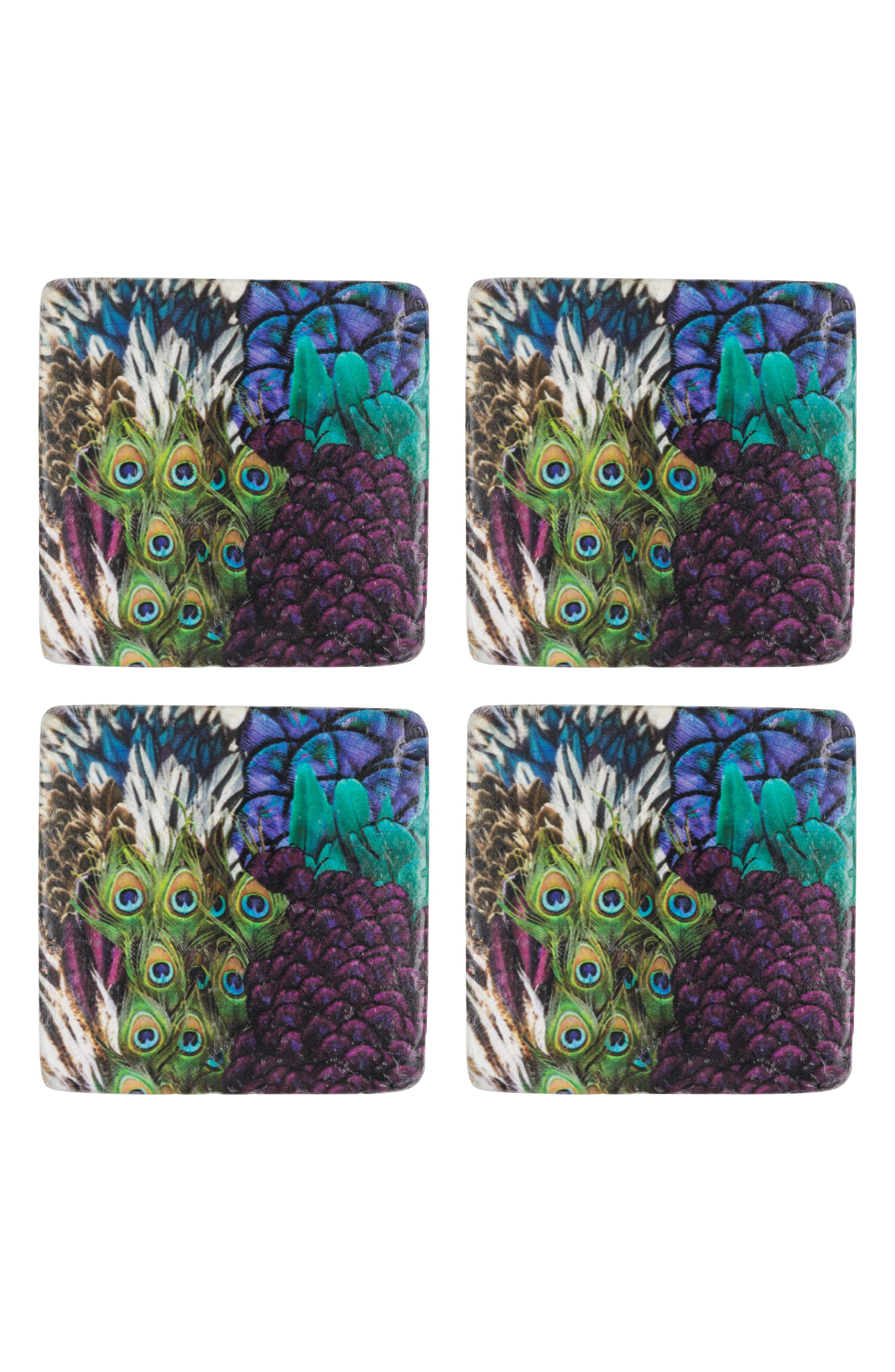 Eightmood Flair Set of 4 Resin Coasters