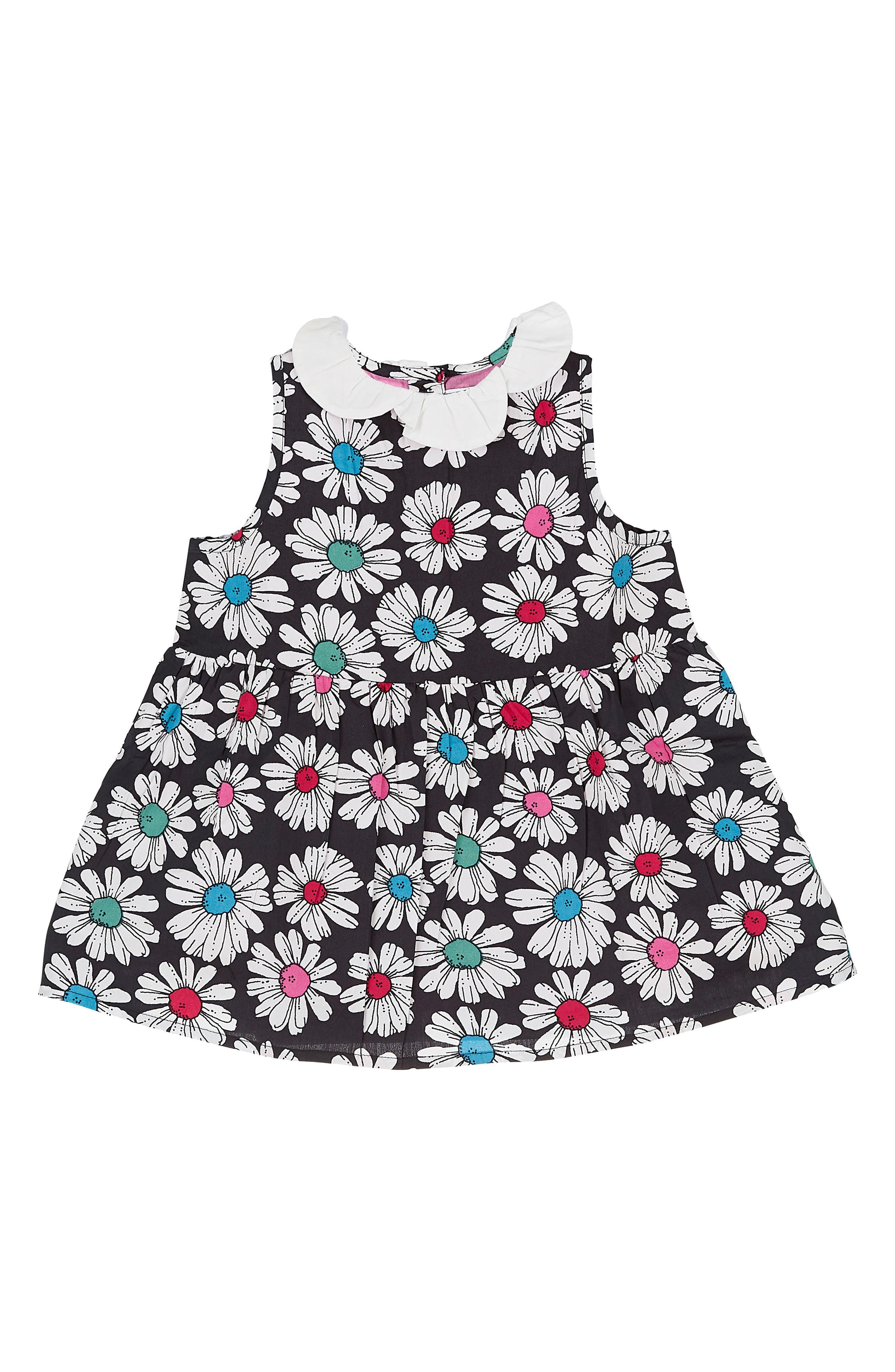 Floral Print Dress,                             Main thumbnail 1, color,                             Optical Daisy