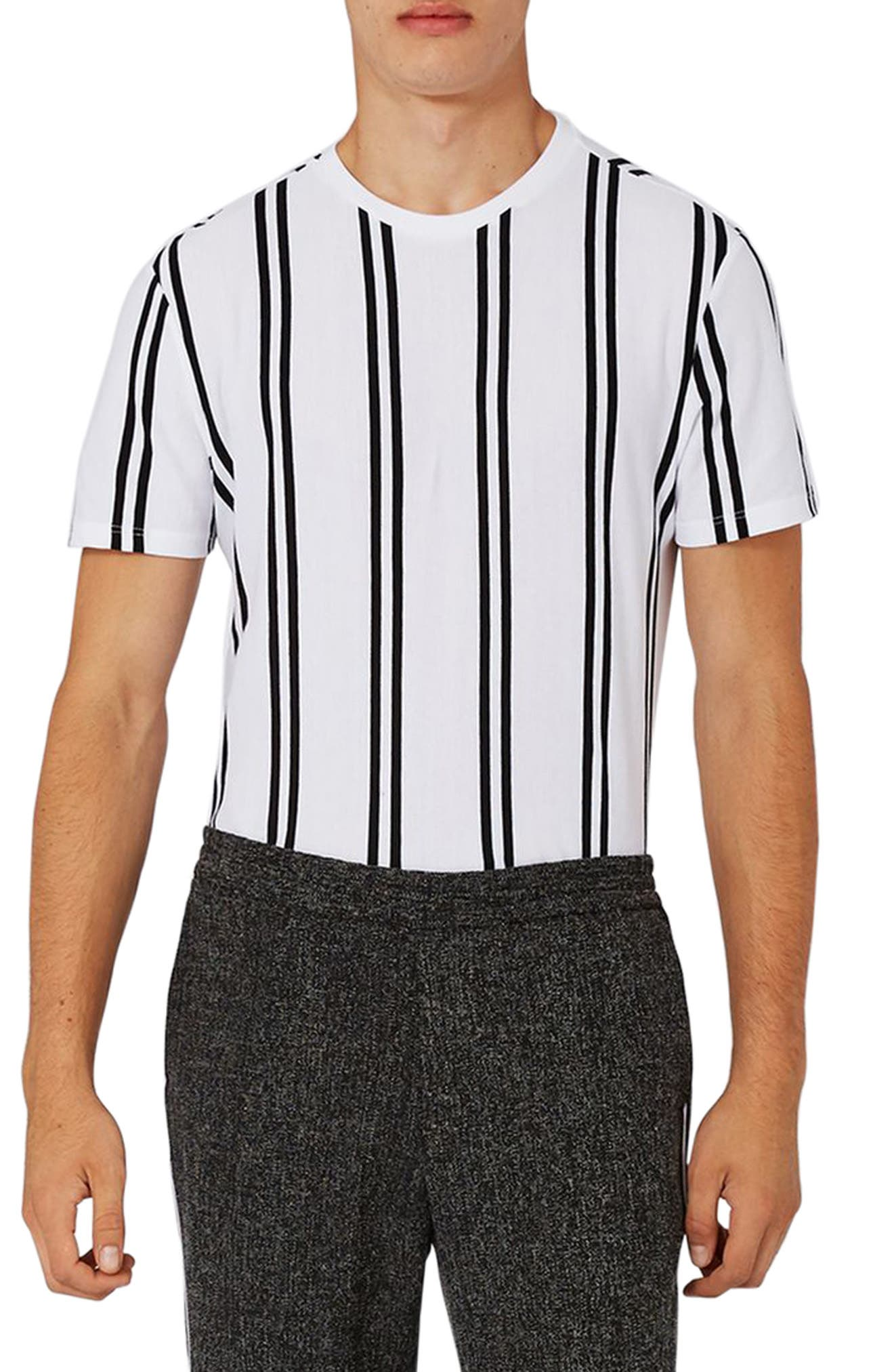 Dilan Stripe T-Shirt,                             Main thumbnail 1, color,                             White Multi
