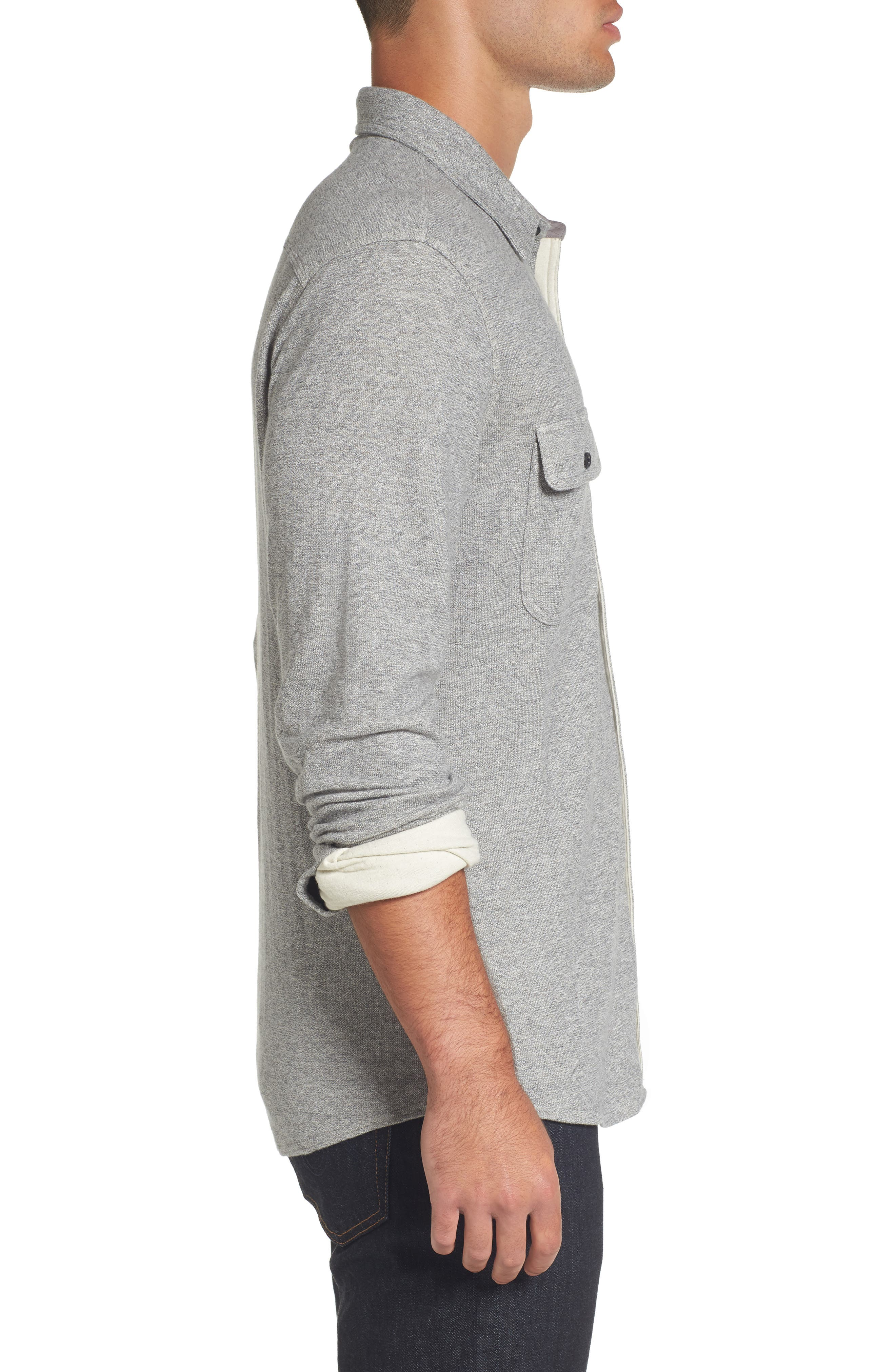 Alternate Image 3  - Nordstrom Men's Shop Trim Fit Knit Sport Shirt (Tall)