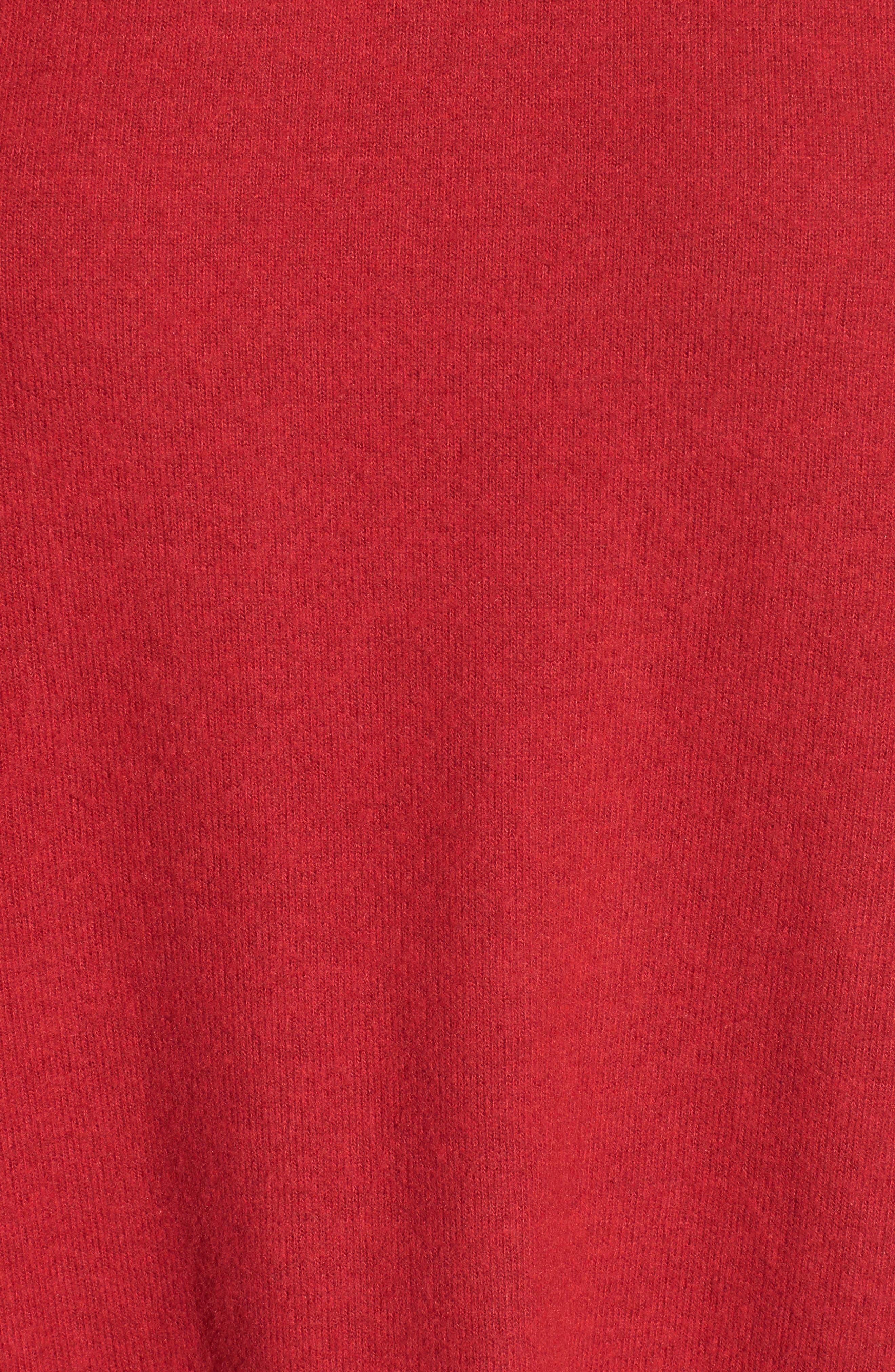 Alternate Image 5  - Gibson Cozy Fleece Ballet Neck High/Low Pullover (Regular & Petite)