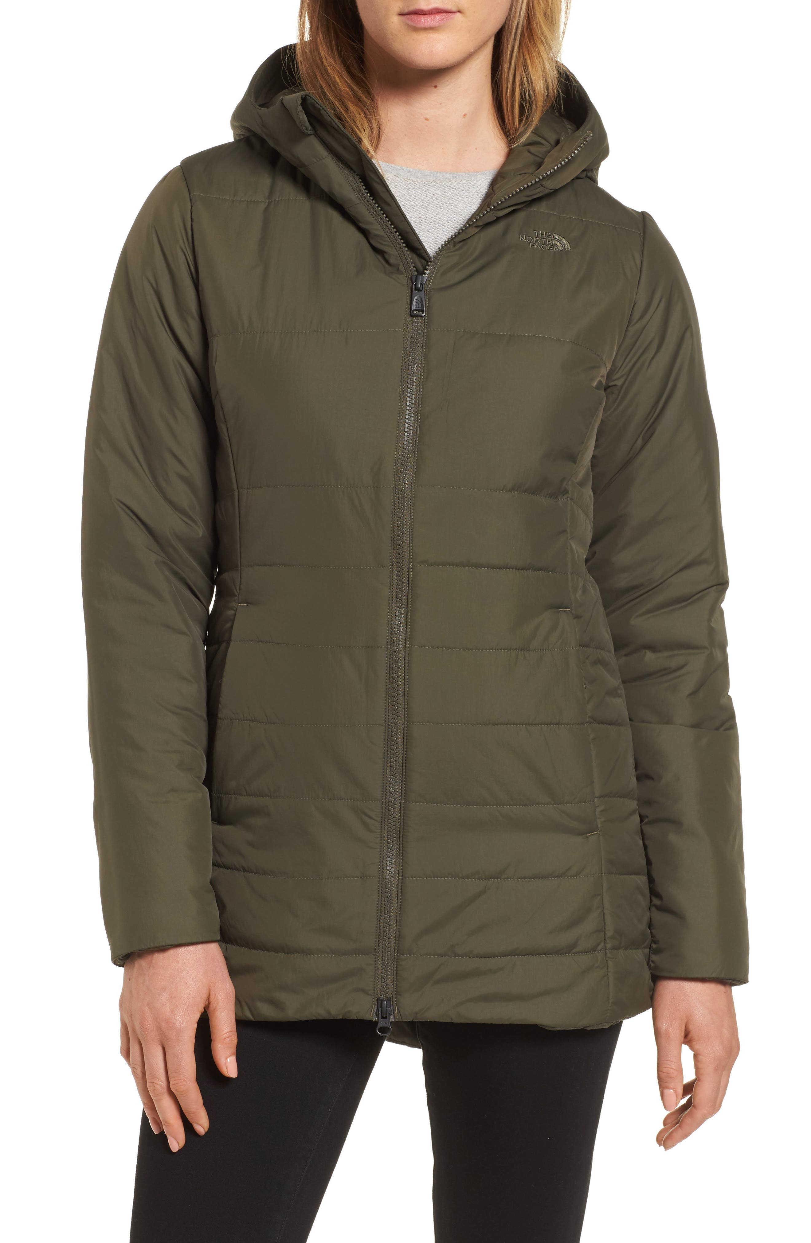 Harway Heatseeker<sup>™</sup> Water-Resistant Jacket with Faux Fur Trim,                             Alternate thumbnail 4, color,                             New Taupe Green